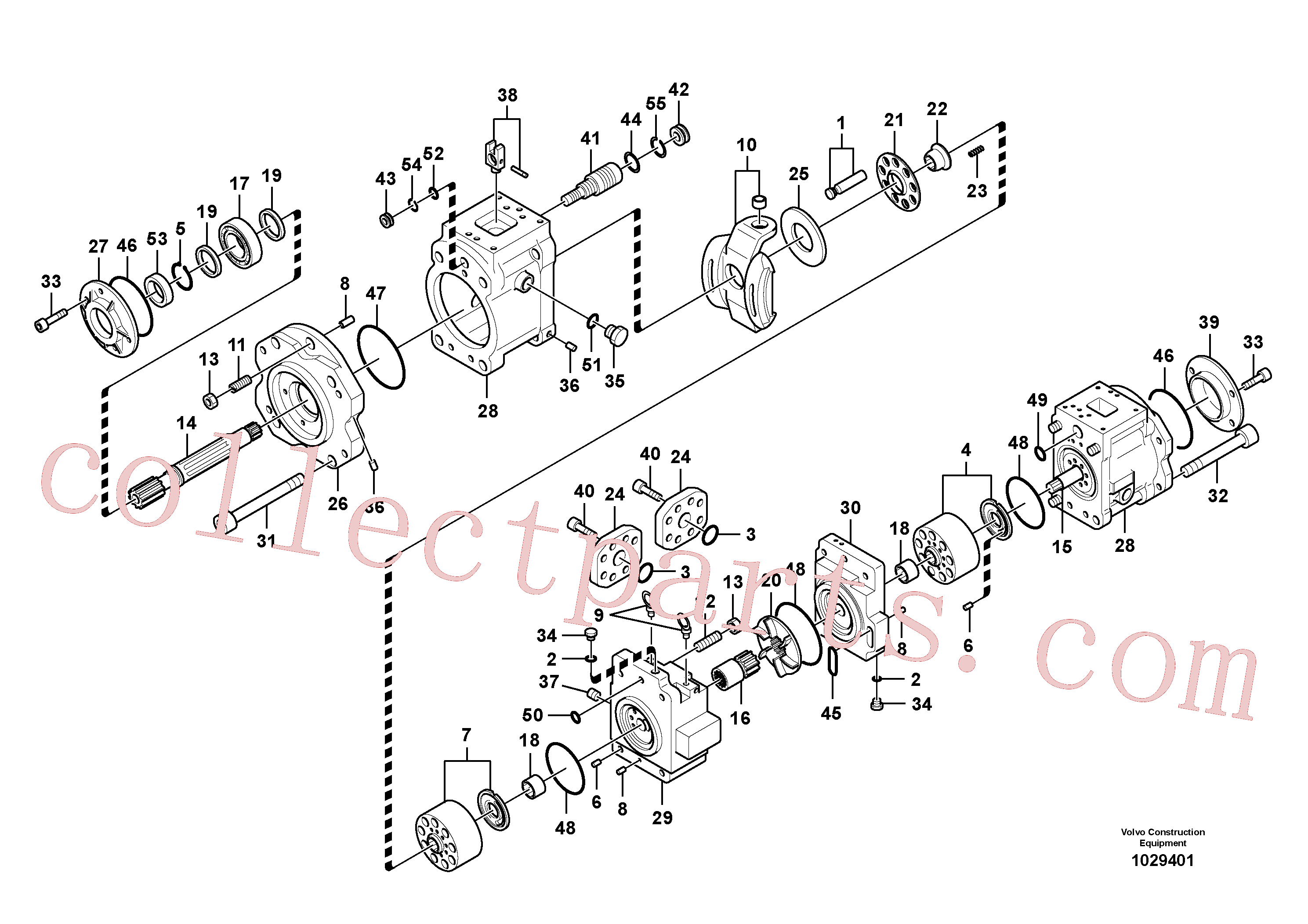 VOE14615353 for Volvo Hydraulic pump(1029401 assembly)