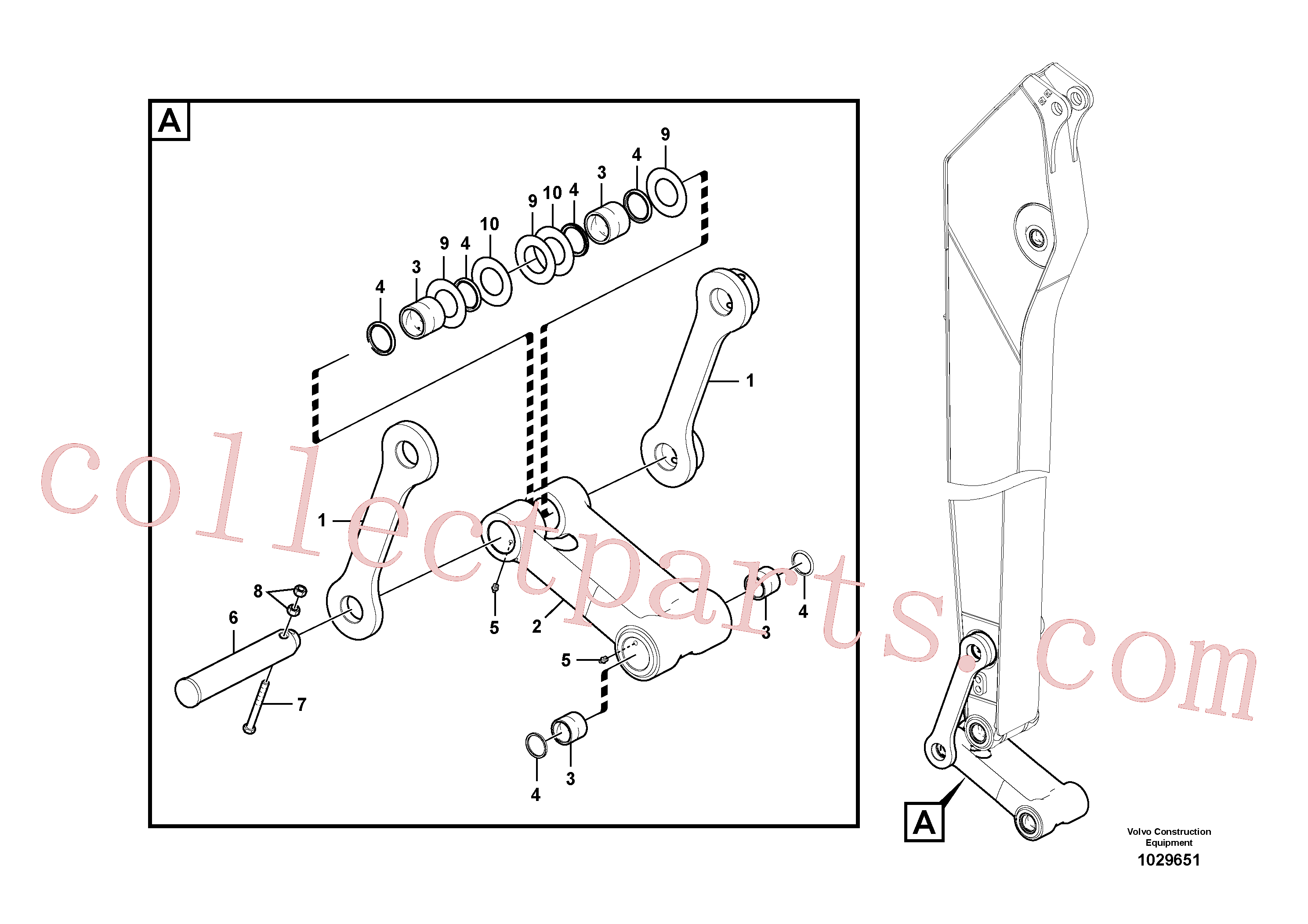 VOE14550744 for Volvo Links to connecting rod(1029651 assembly)