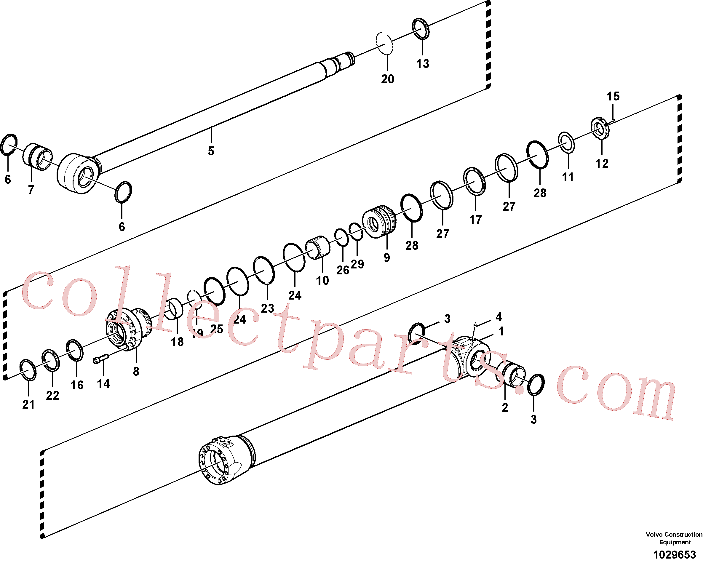 VOE14510425 for Volvo Boom cylinder(1029653 assembly)