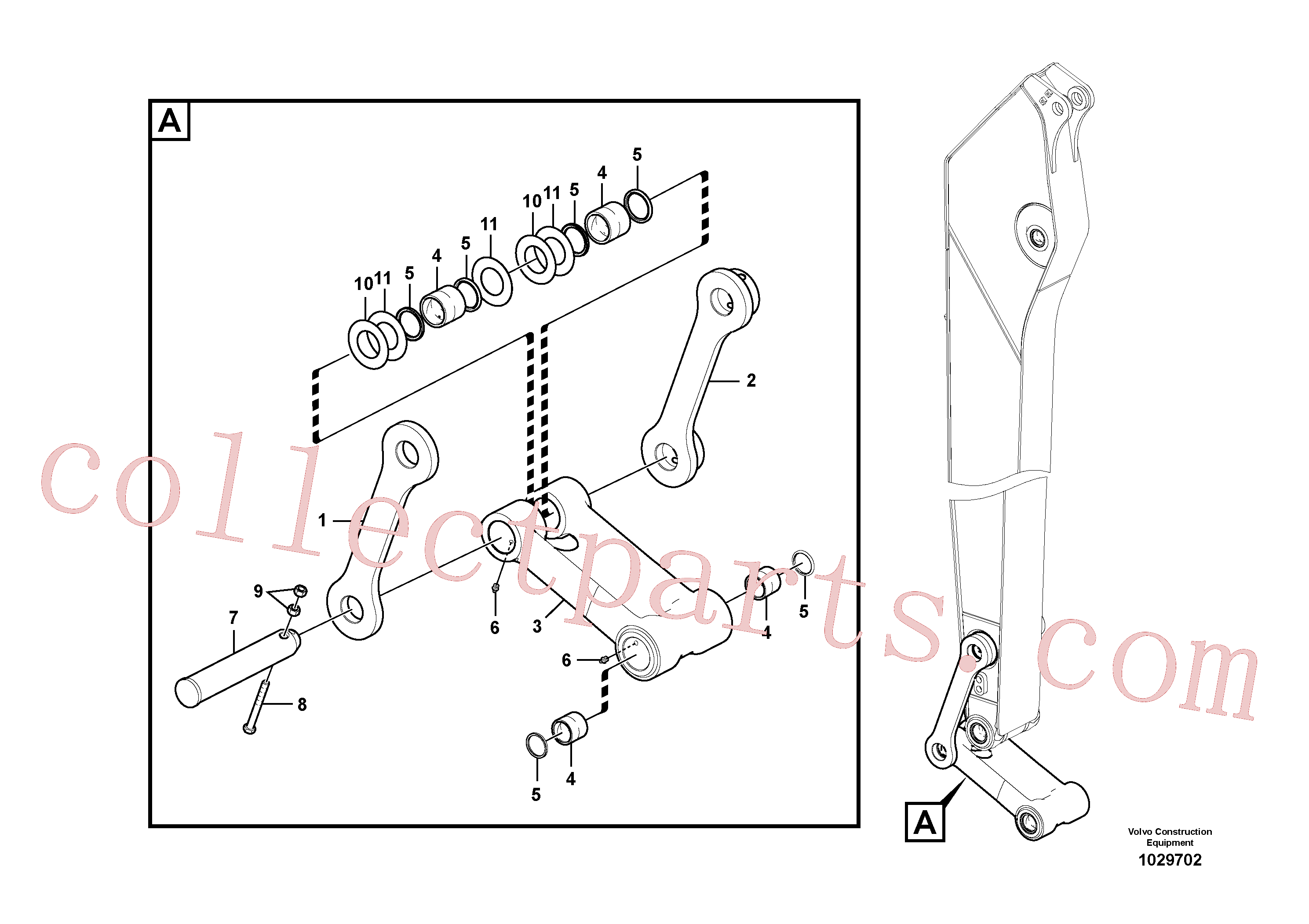 VOE14550744 for Volvo Links to connecting rod(1029702 assembly)