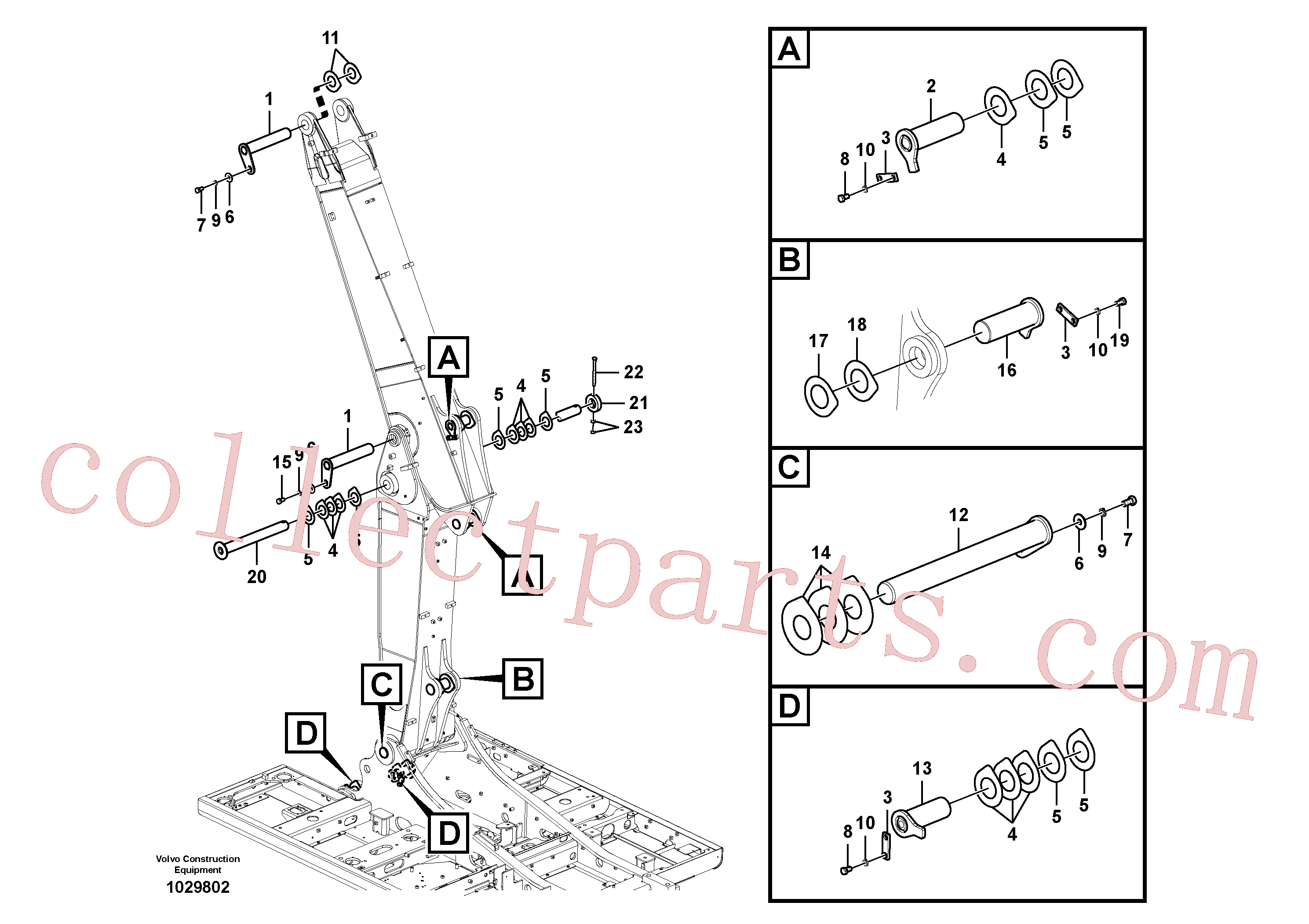 VOE14543949 for Volvo Links to boom, adjustable(1029802 assembly)