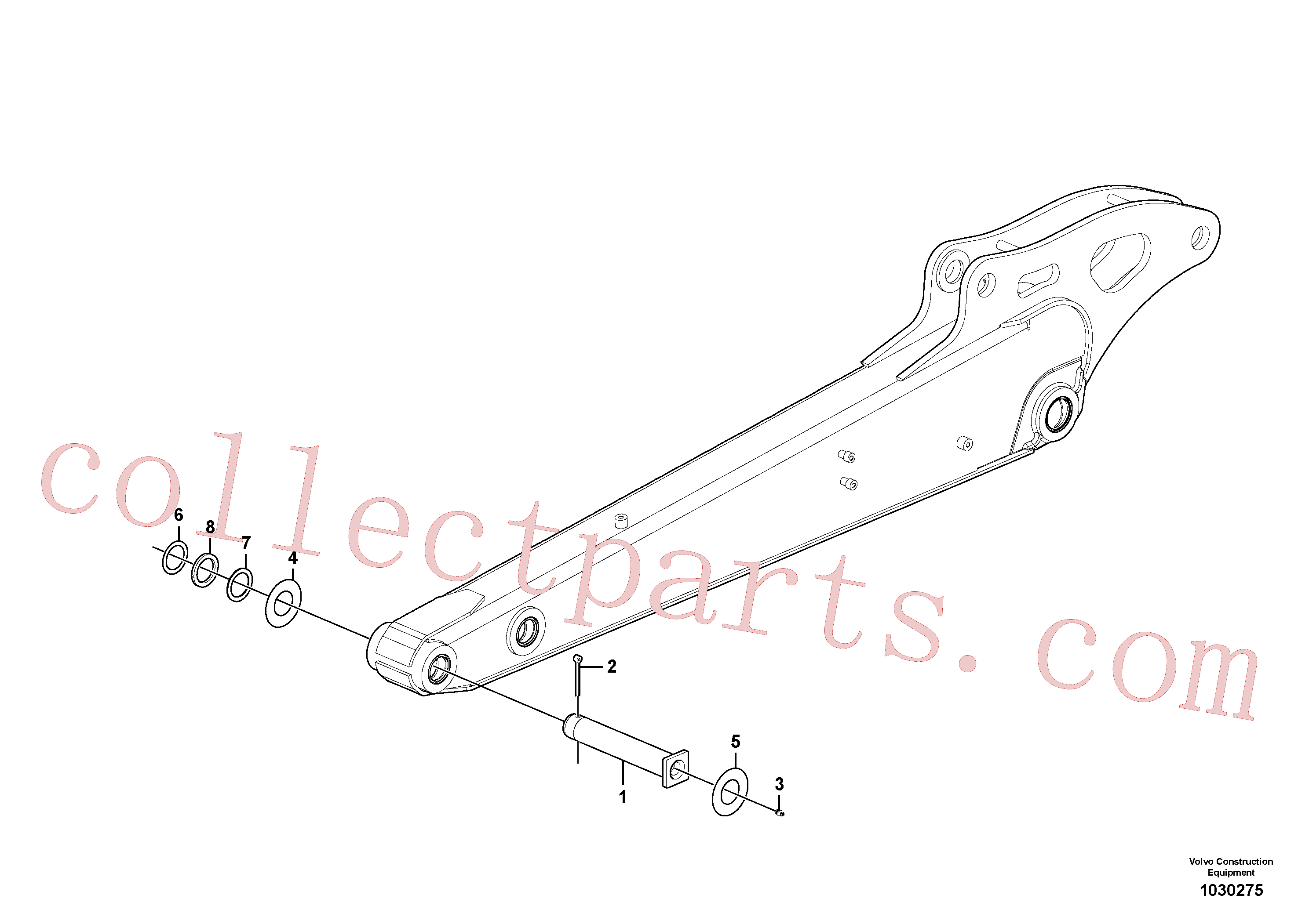 PJ5540099 for Volvo Dipper arm(1030275 assembly)