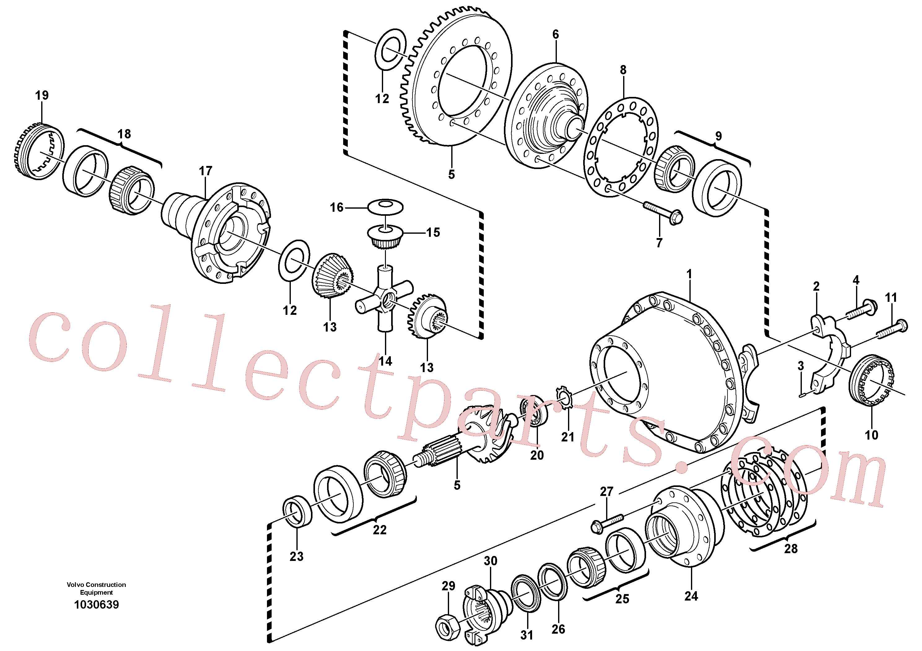 VOE81241445 for Volvo Final drive(1030639 assembly)