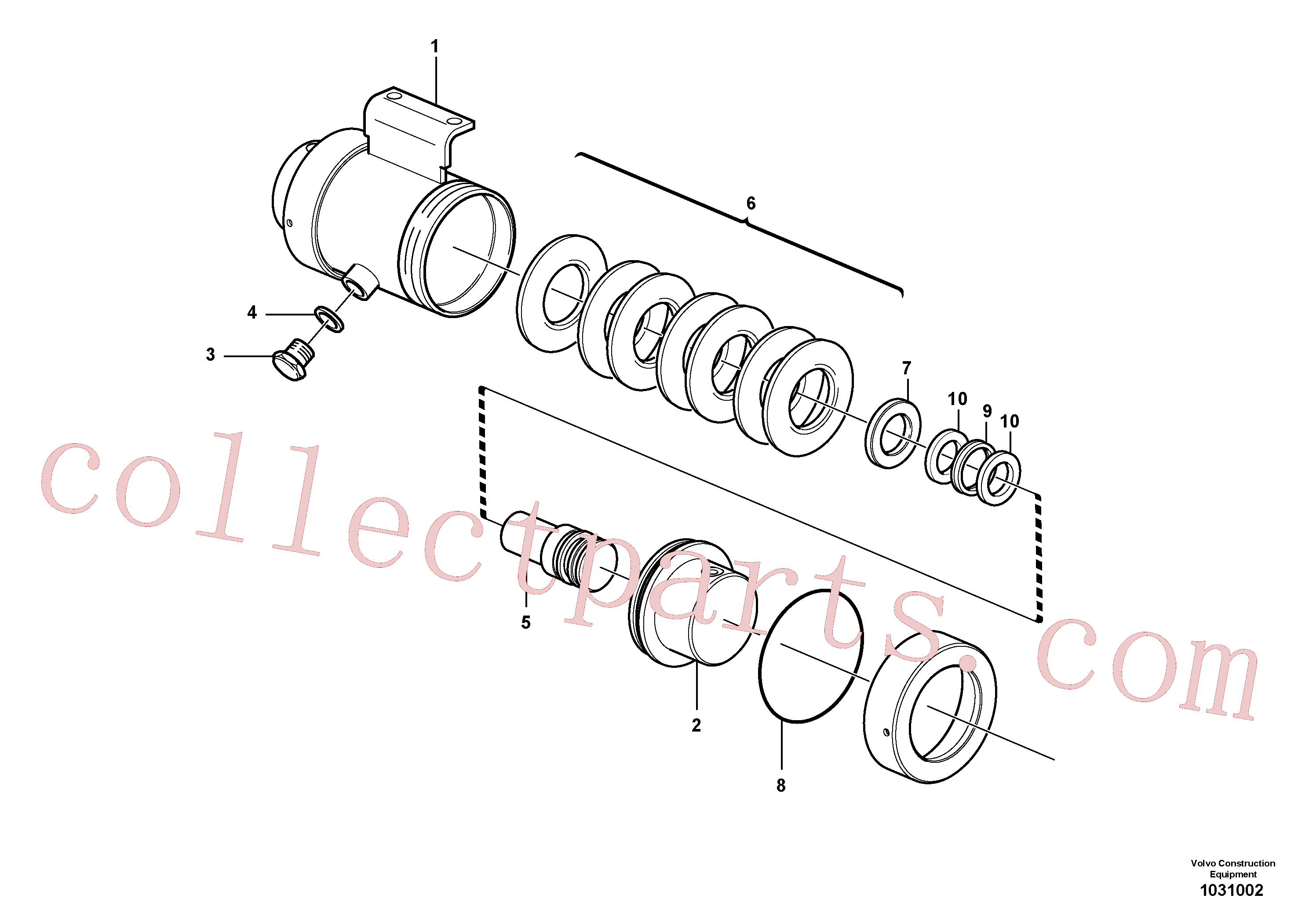 VOE925258 for Volvo Damping cylinder(1031002 assembly)