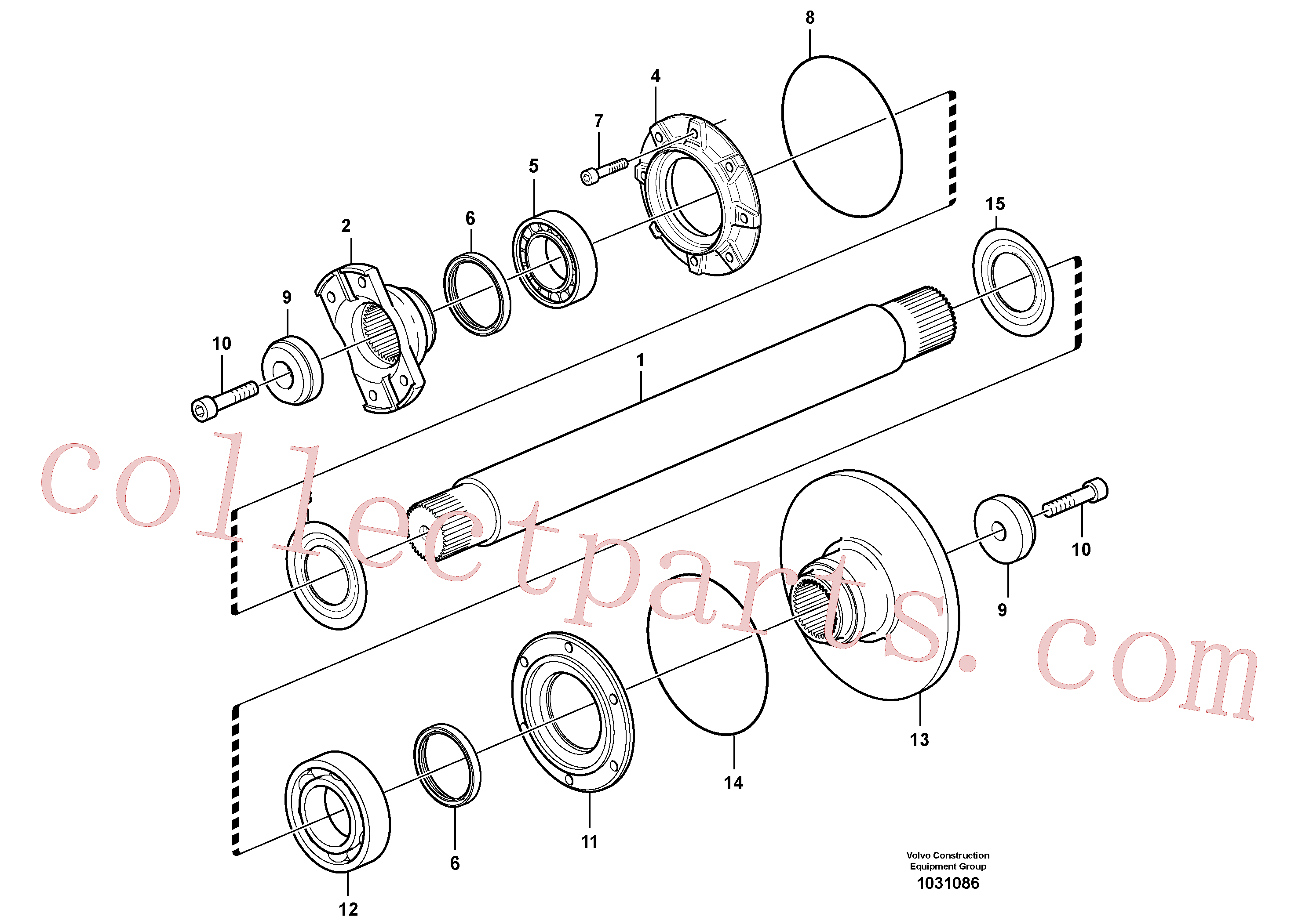 VOE11194469 for Volvo Intermediate shaft(1031086 assembly)