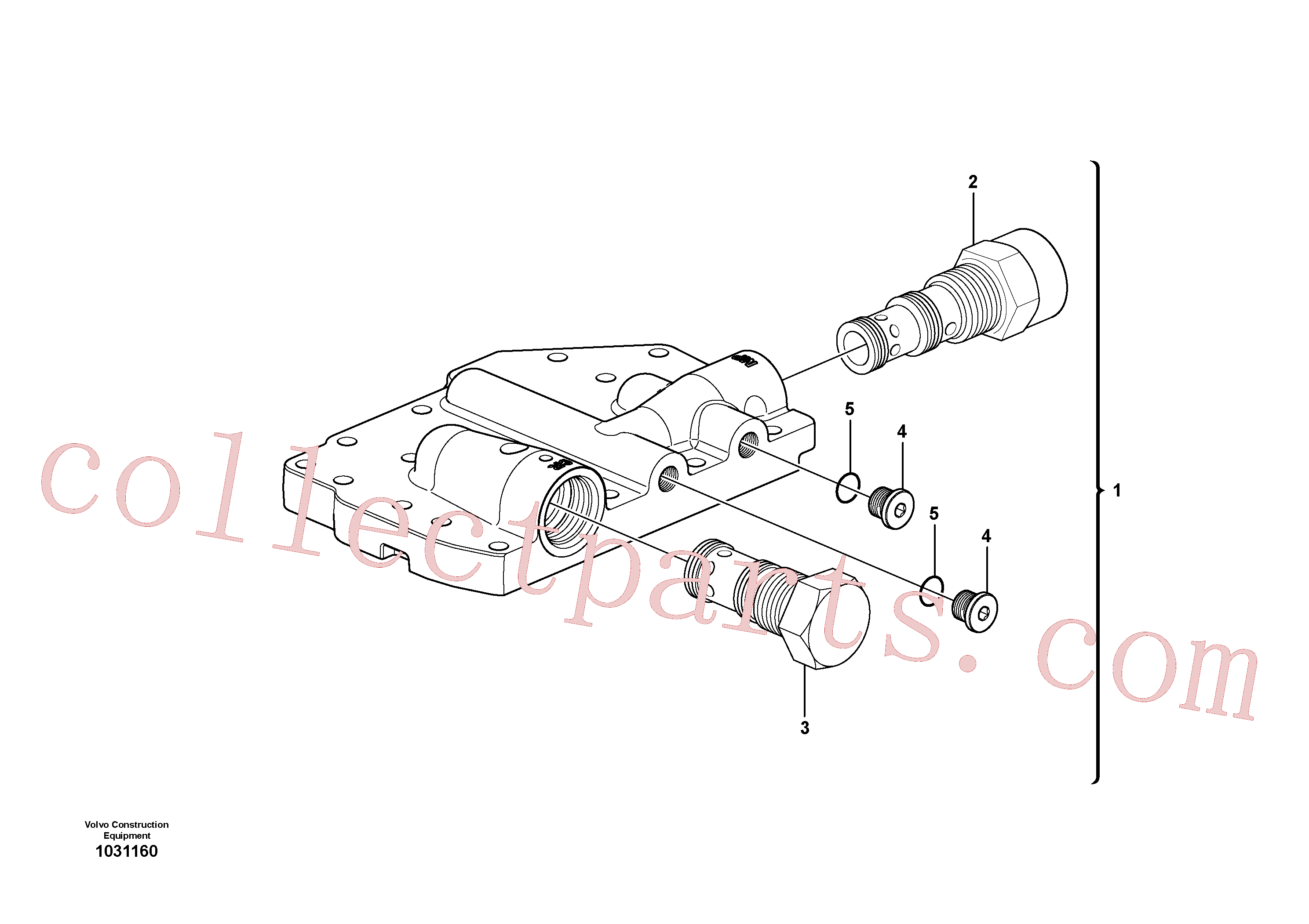 VOE947624 for Volvo Control system, Main pressure valve(1031160 assembly)