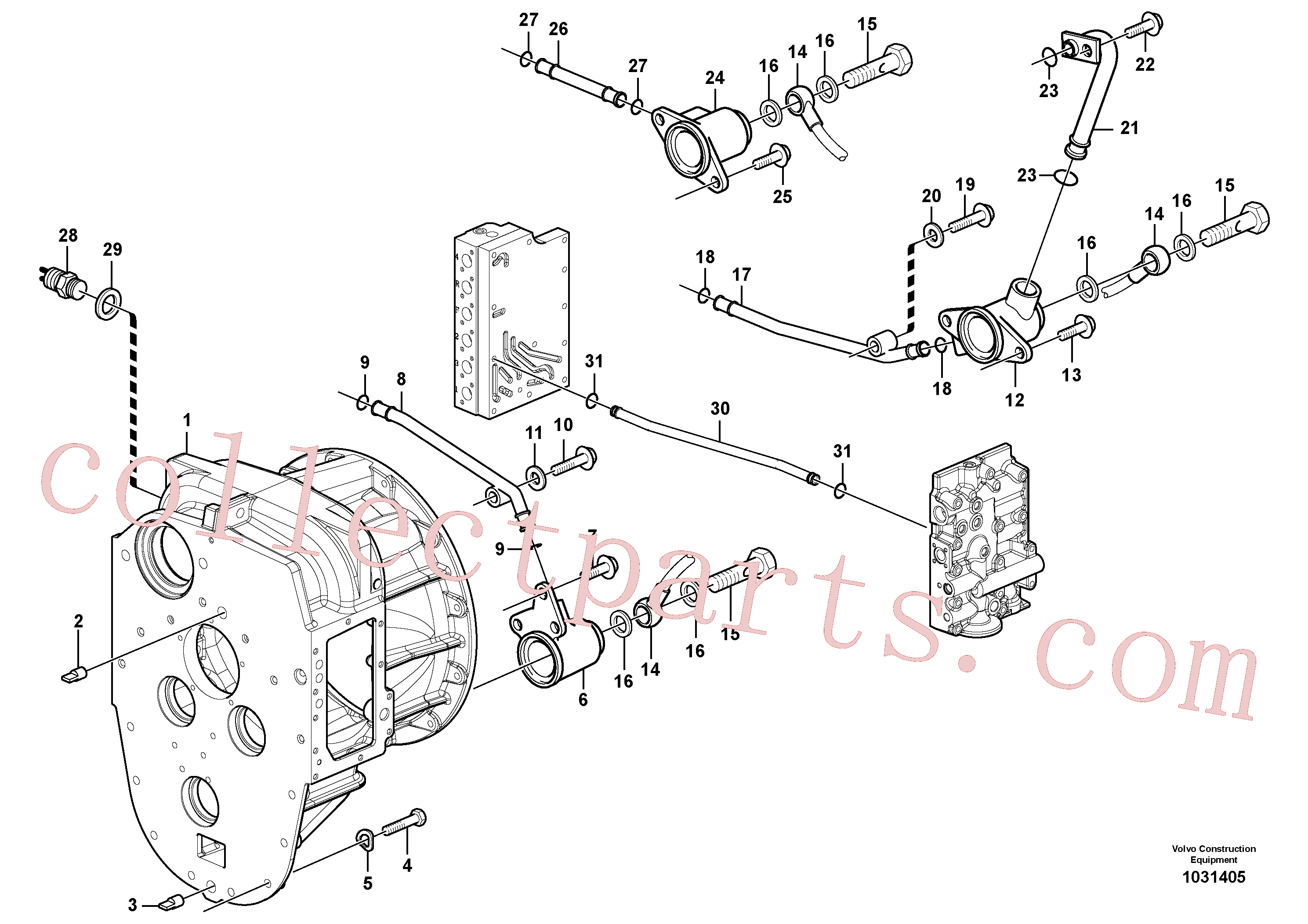 VOE947624 for Volvo Converter housing with fitting parts(1031405 assembly)
