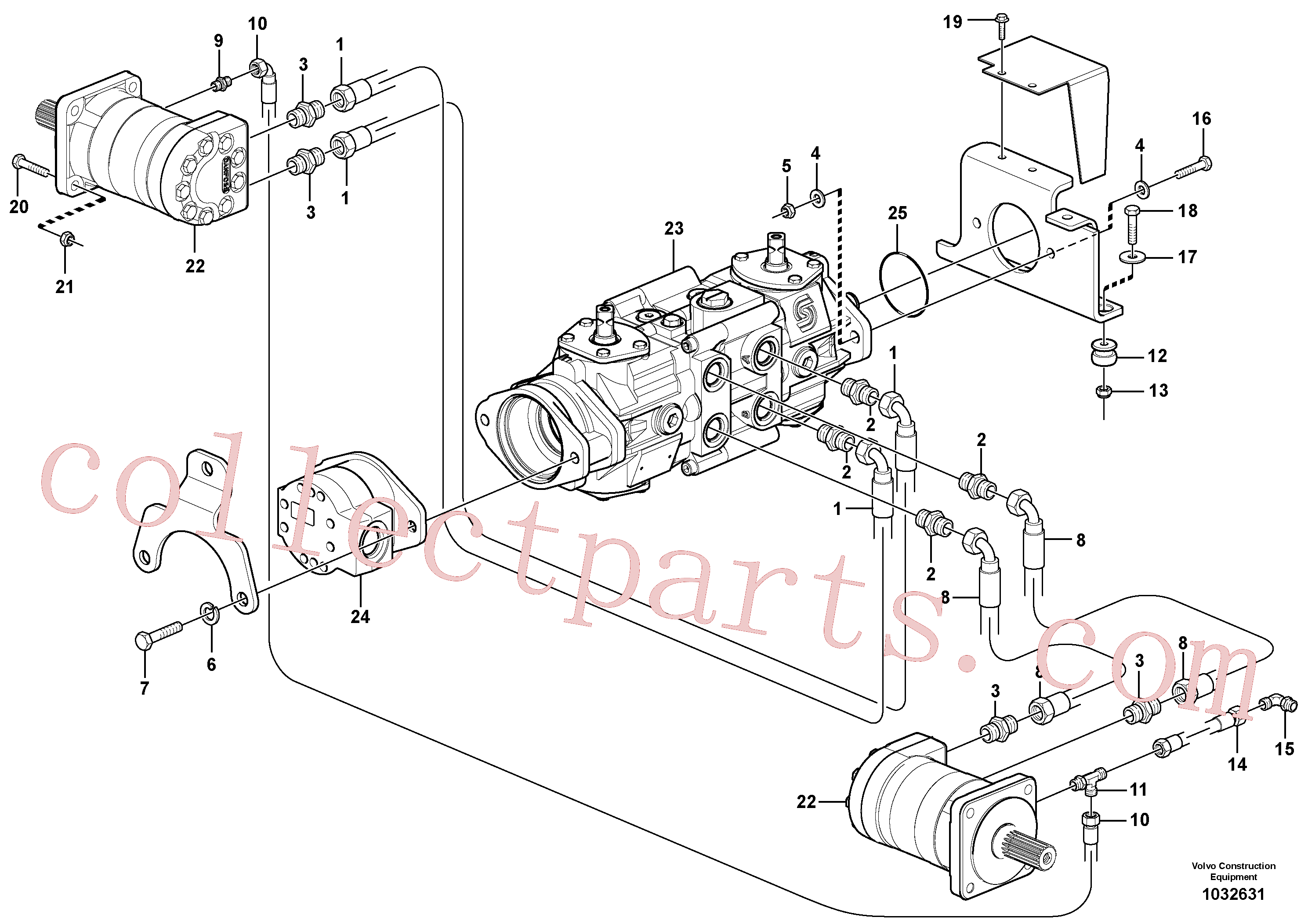 VOE955564 for Volvo Hydraulic system Transport(1032631 assembly)