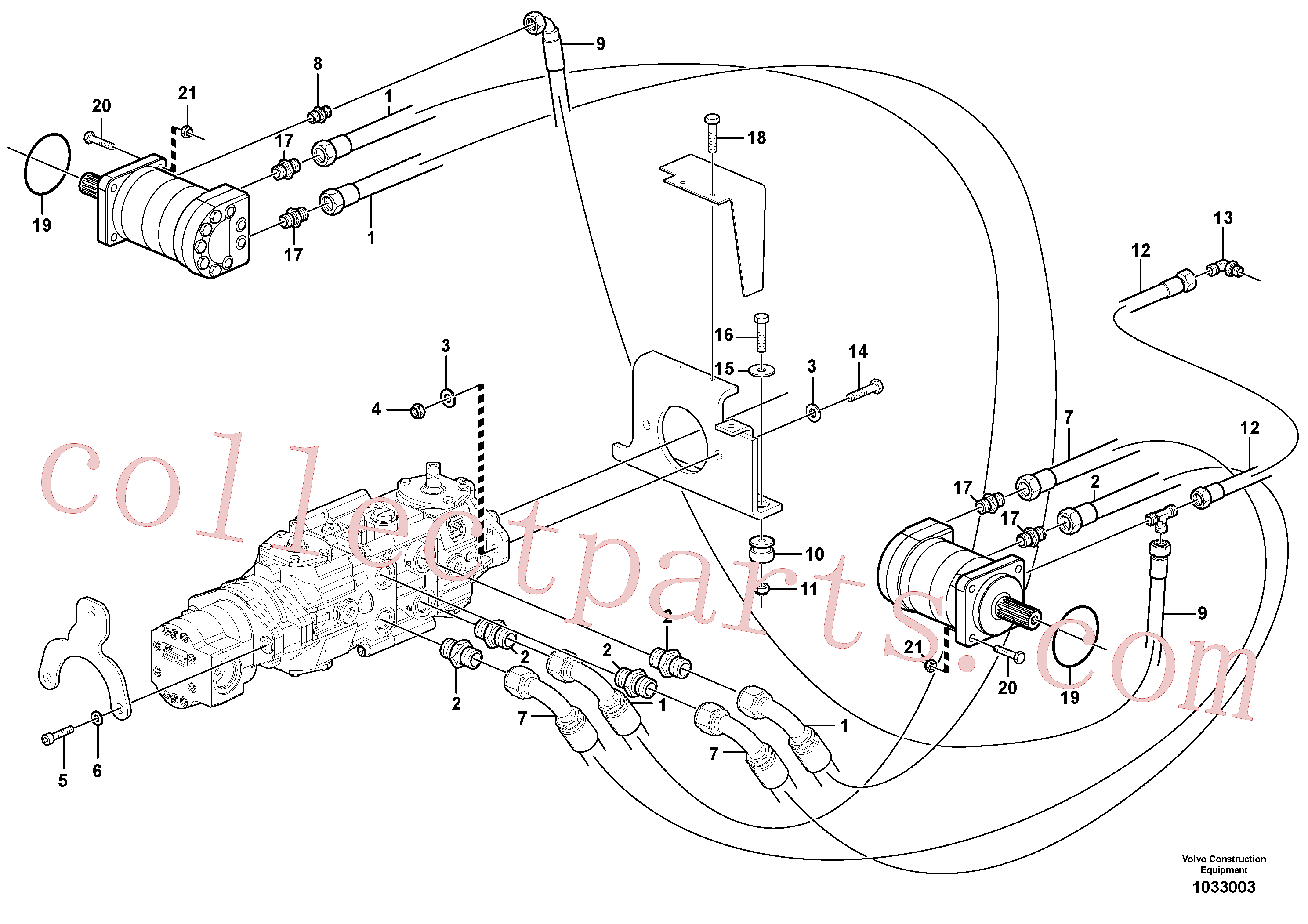 VOE955564 for Volvo Hydraulic system Transport(1033003 assembly)