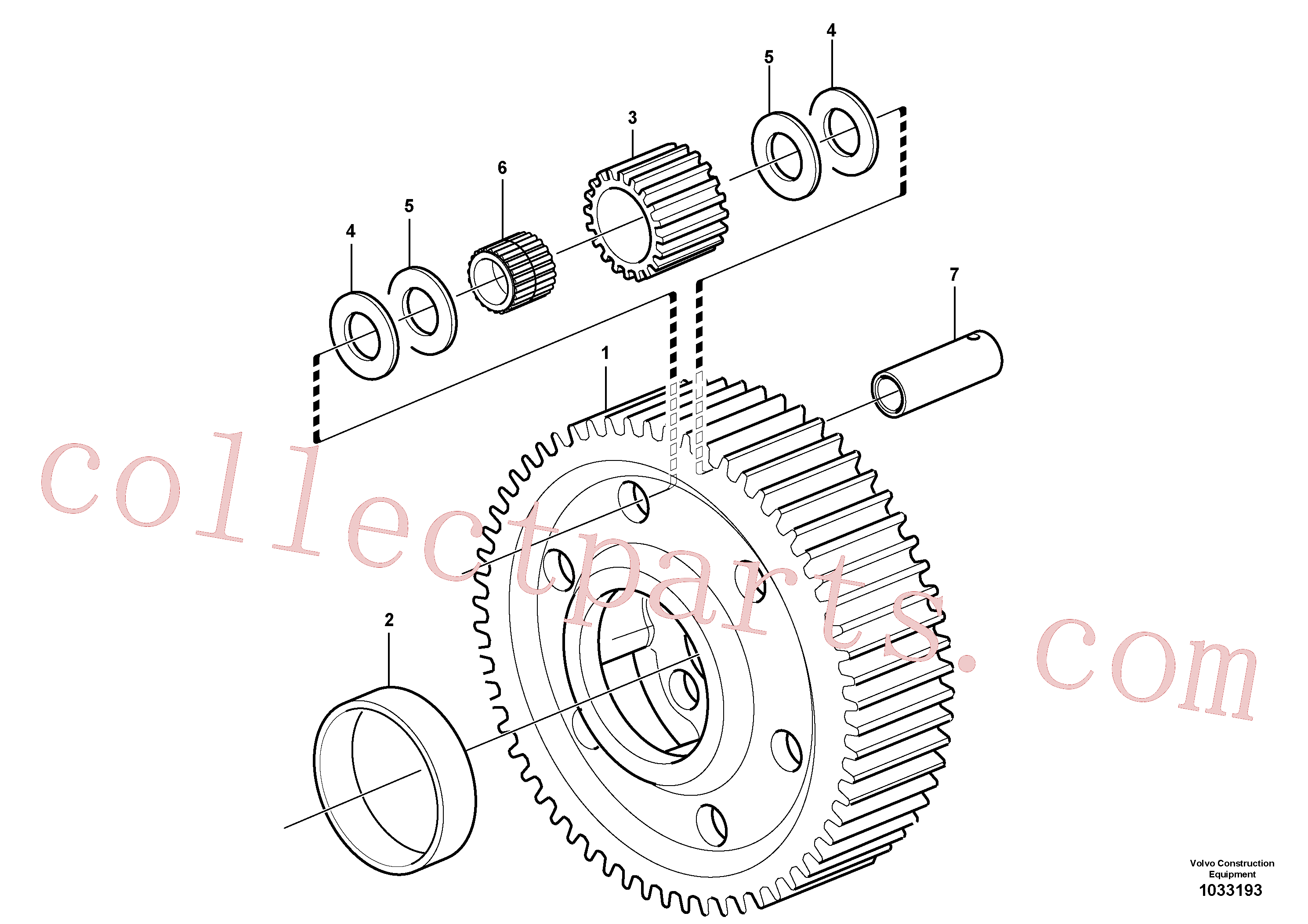 VOE17405347 for Volvo Planet kit, stage 5(1033193 assembly)