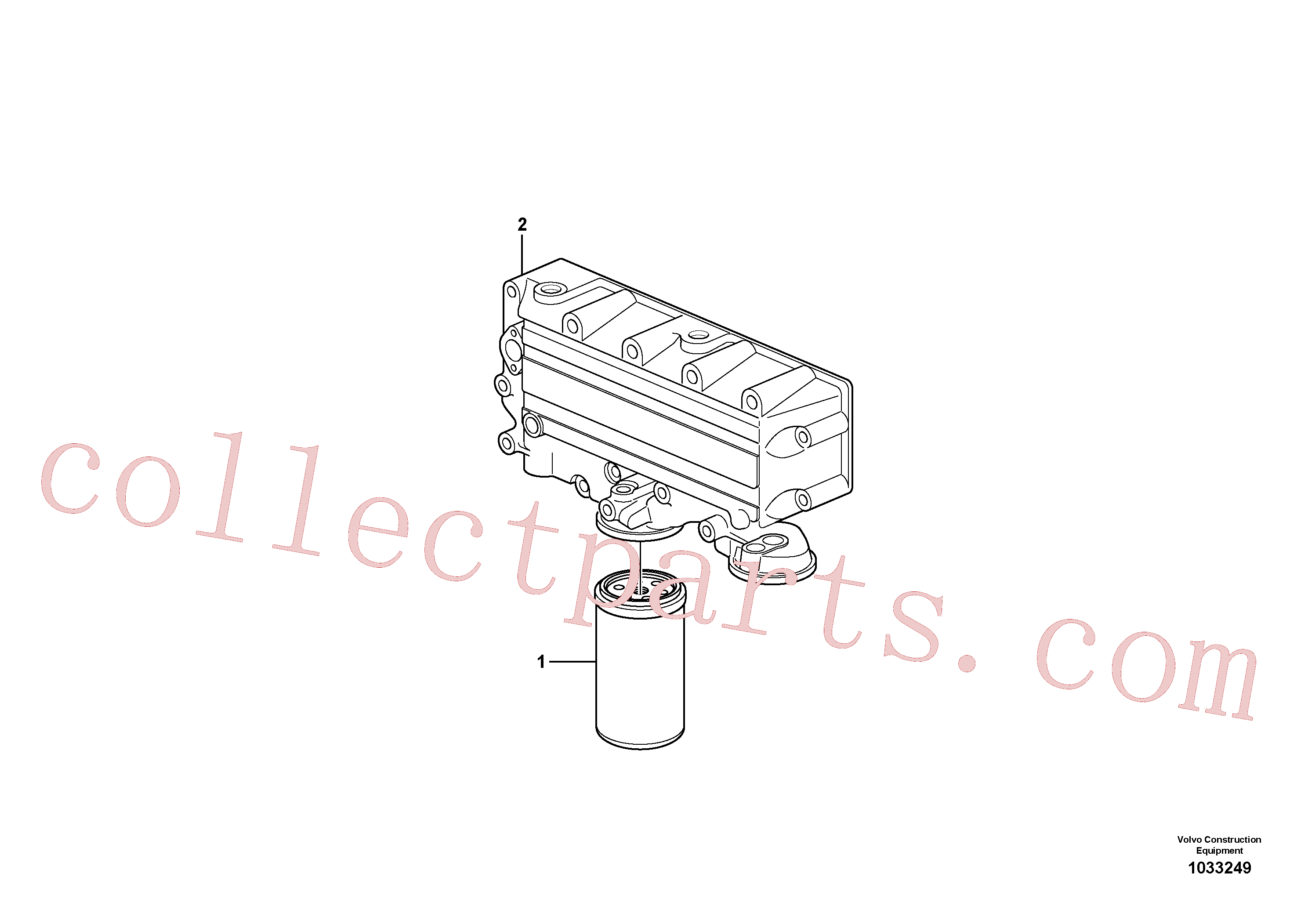 VOE17457469 for Volvo Oil filter(1033249 assembly)