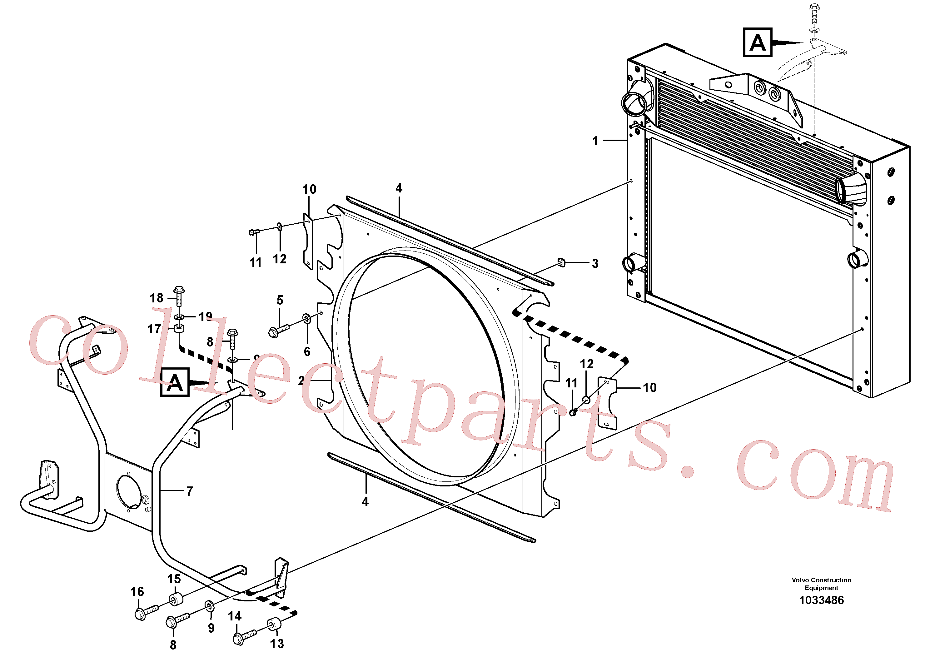 VOE947760 for Volvo Fan shroud with fitting parts(1033486 assembly)