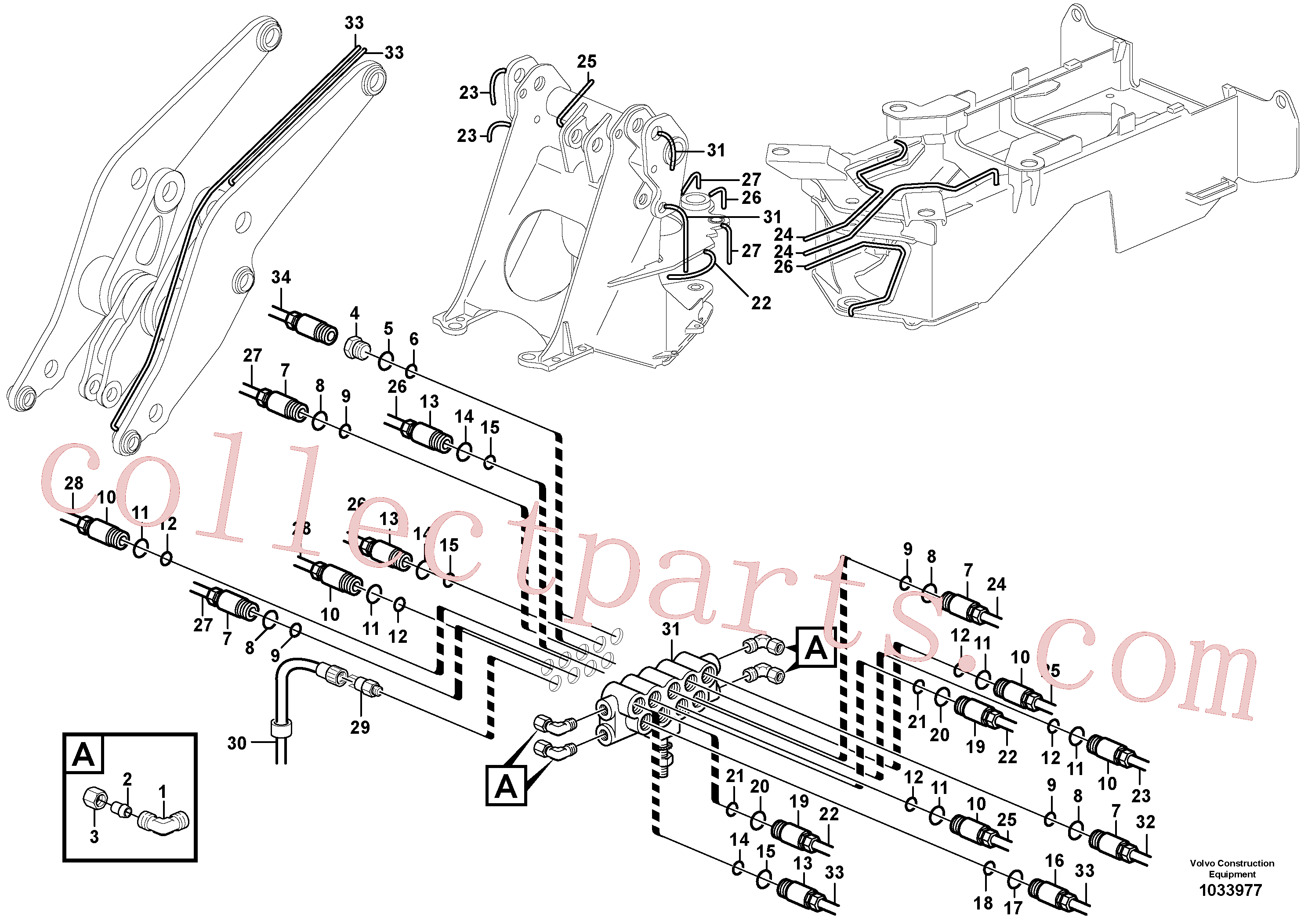 VOE11702150 for Volvo Distribution block, B1(1033977 assembly)