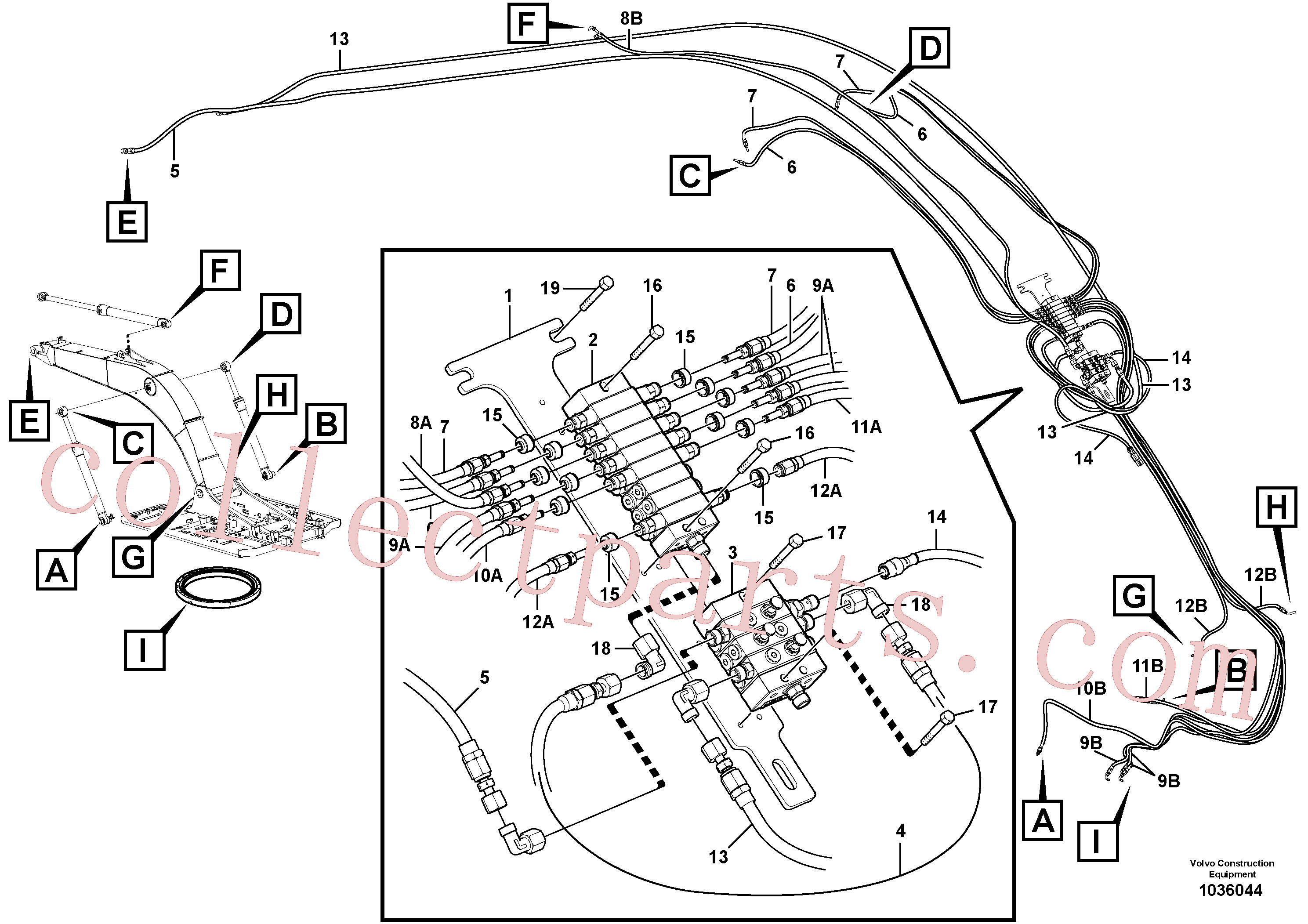 VOE14388450 for Volvo Distributor set, boom(1036044 assembly)