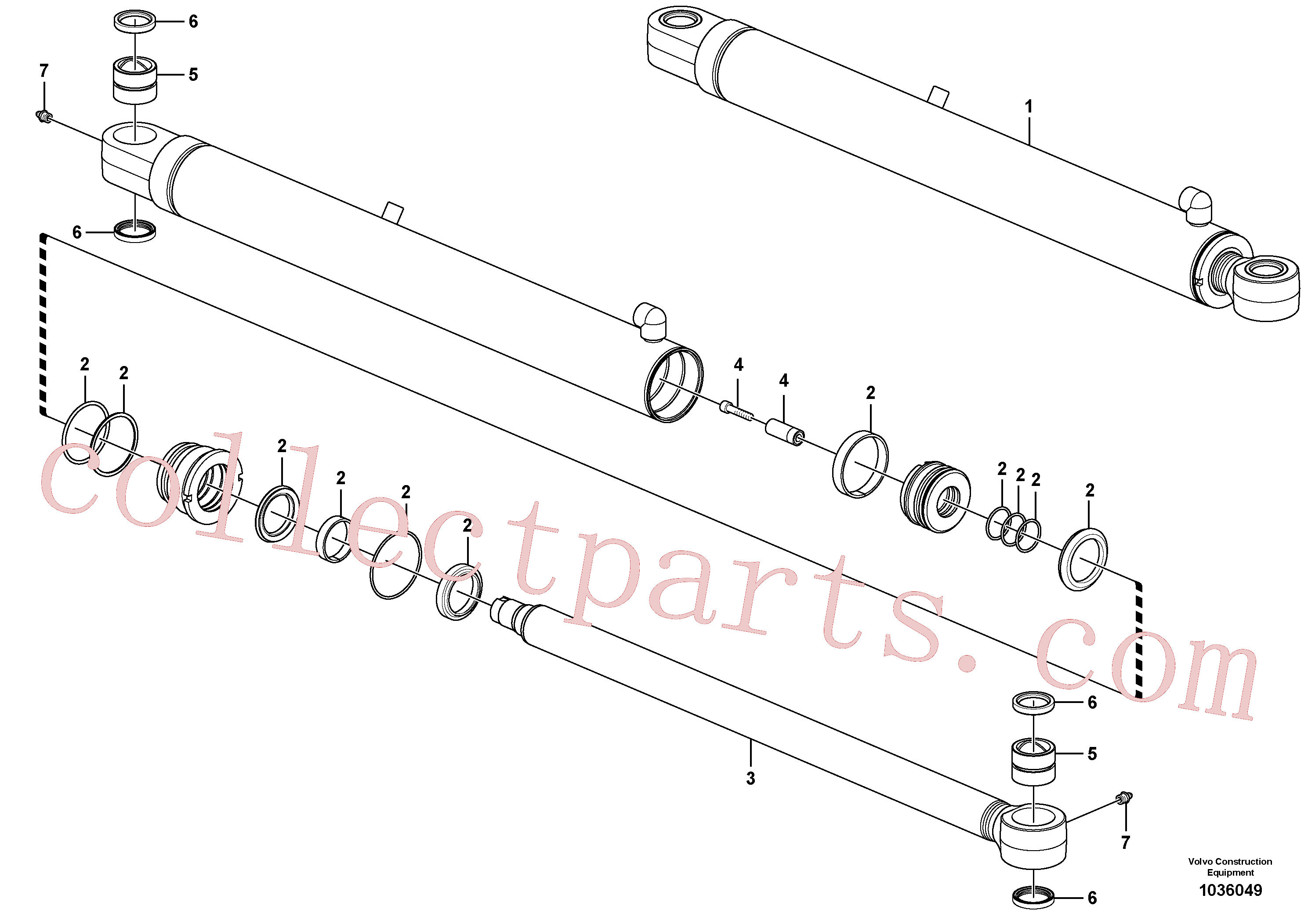 PJ5580005 for Volvo Dipper arm cylinder(1036049 assembly)