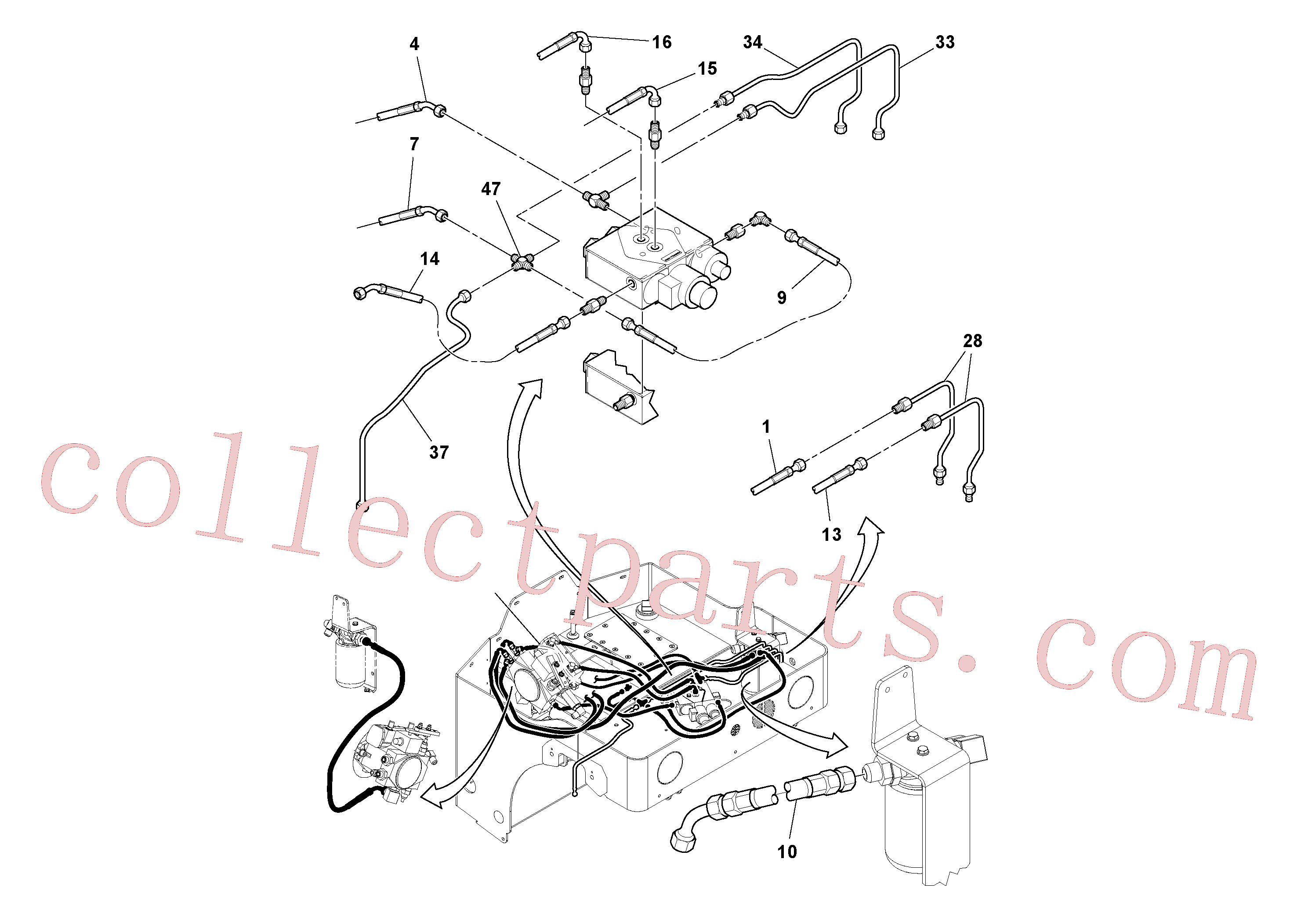 RM59197350 for Volvo Hydraulic Hoses/Tube Clamp Installation(1036314 assembly)