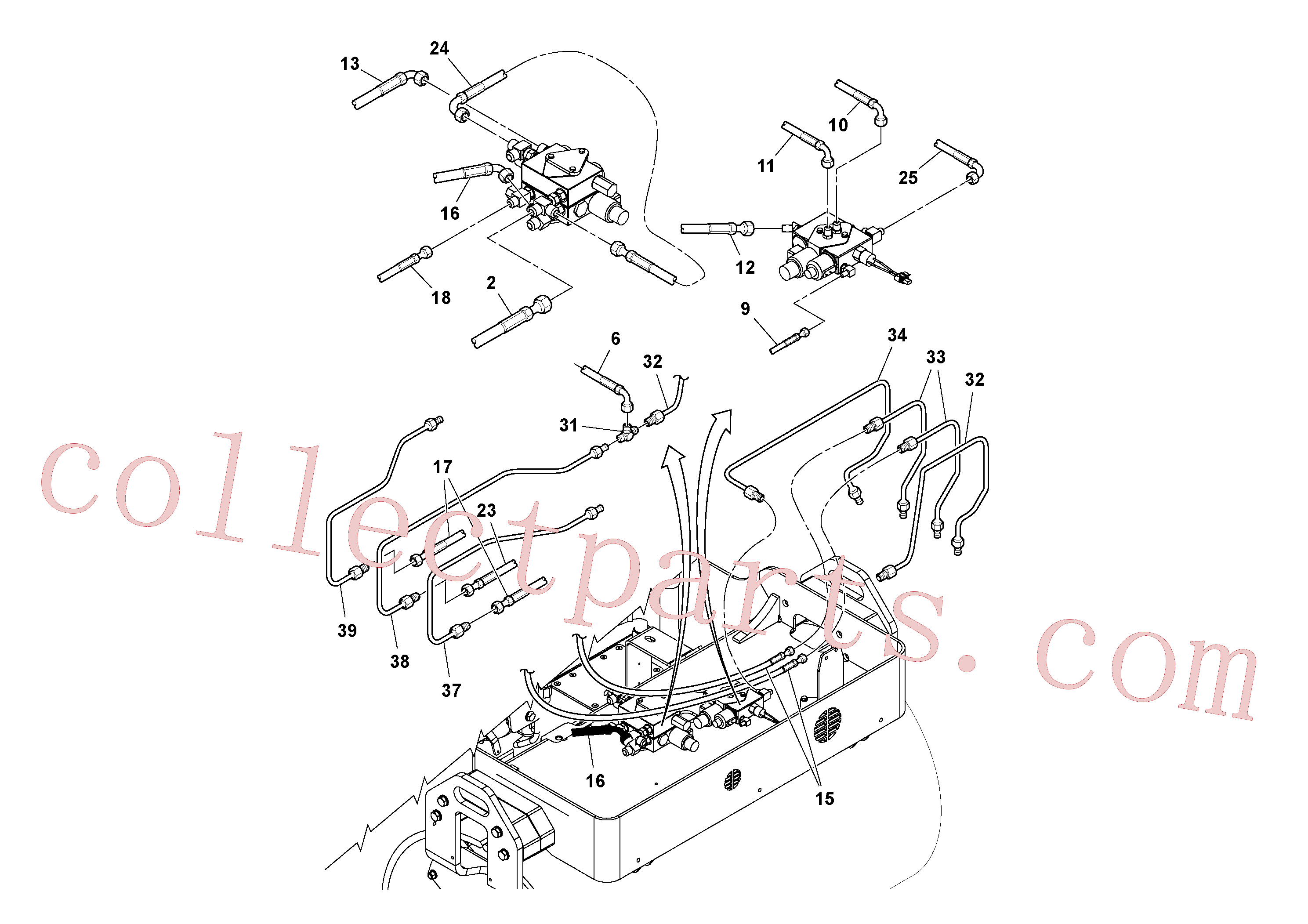 RM59219865 for Volvo Hydraulic Hose and Tube Installation(1036413 assembly)