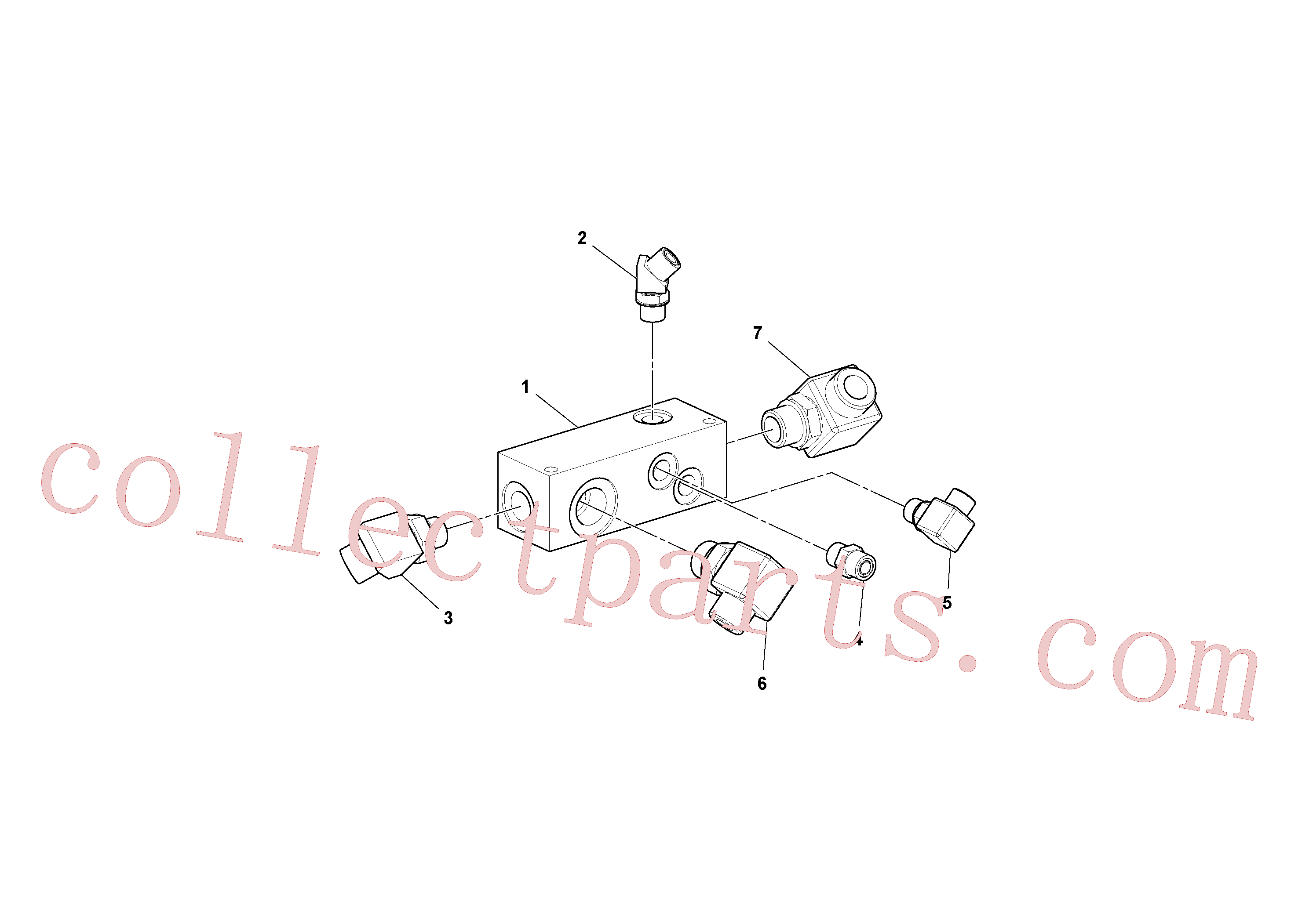 RM59922369 for Volvo Manifold Assembly(1036601 assembly)