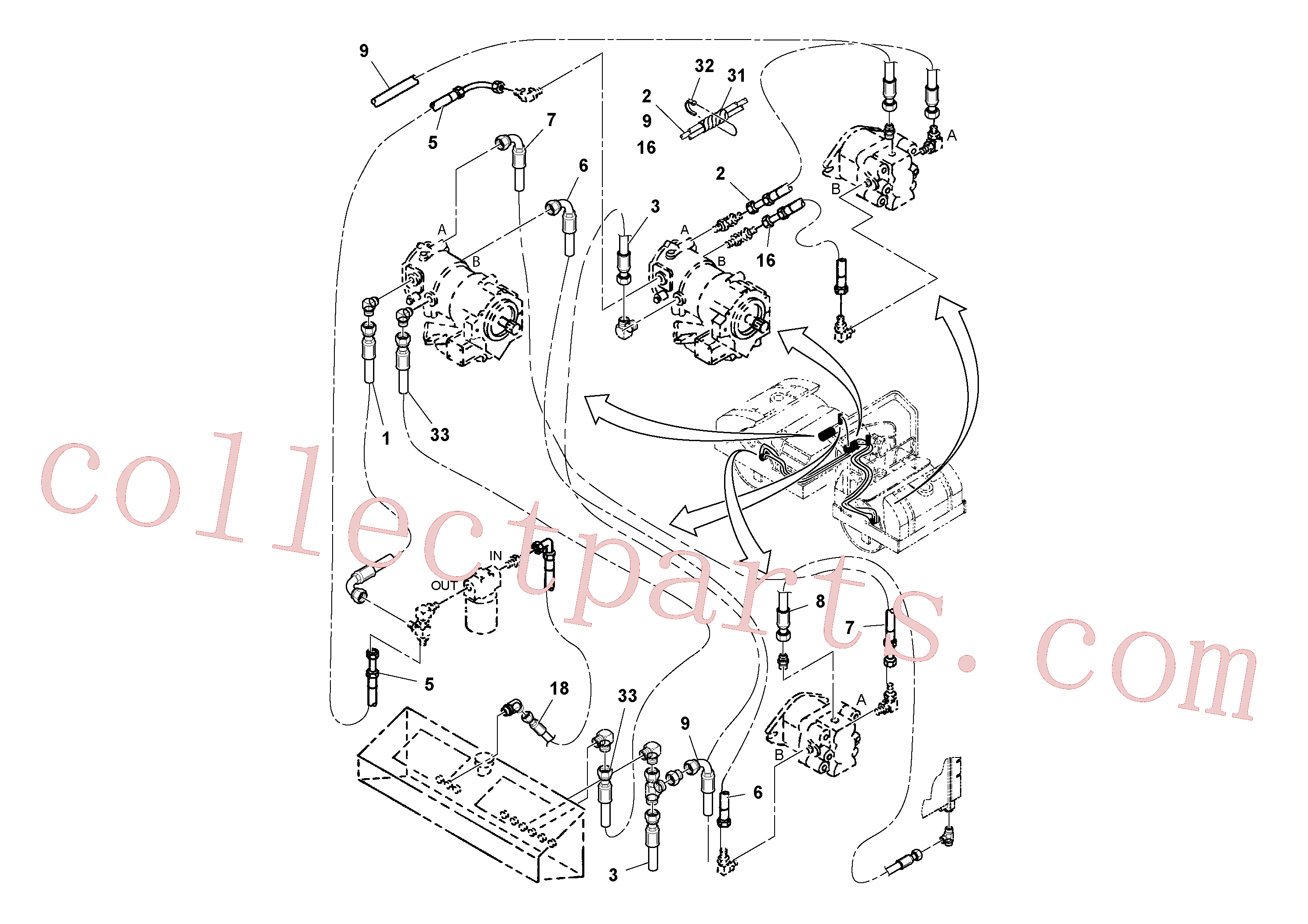 RM13040506 for Volvo Vibration Hoses Installation(1036718 assembly)