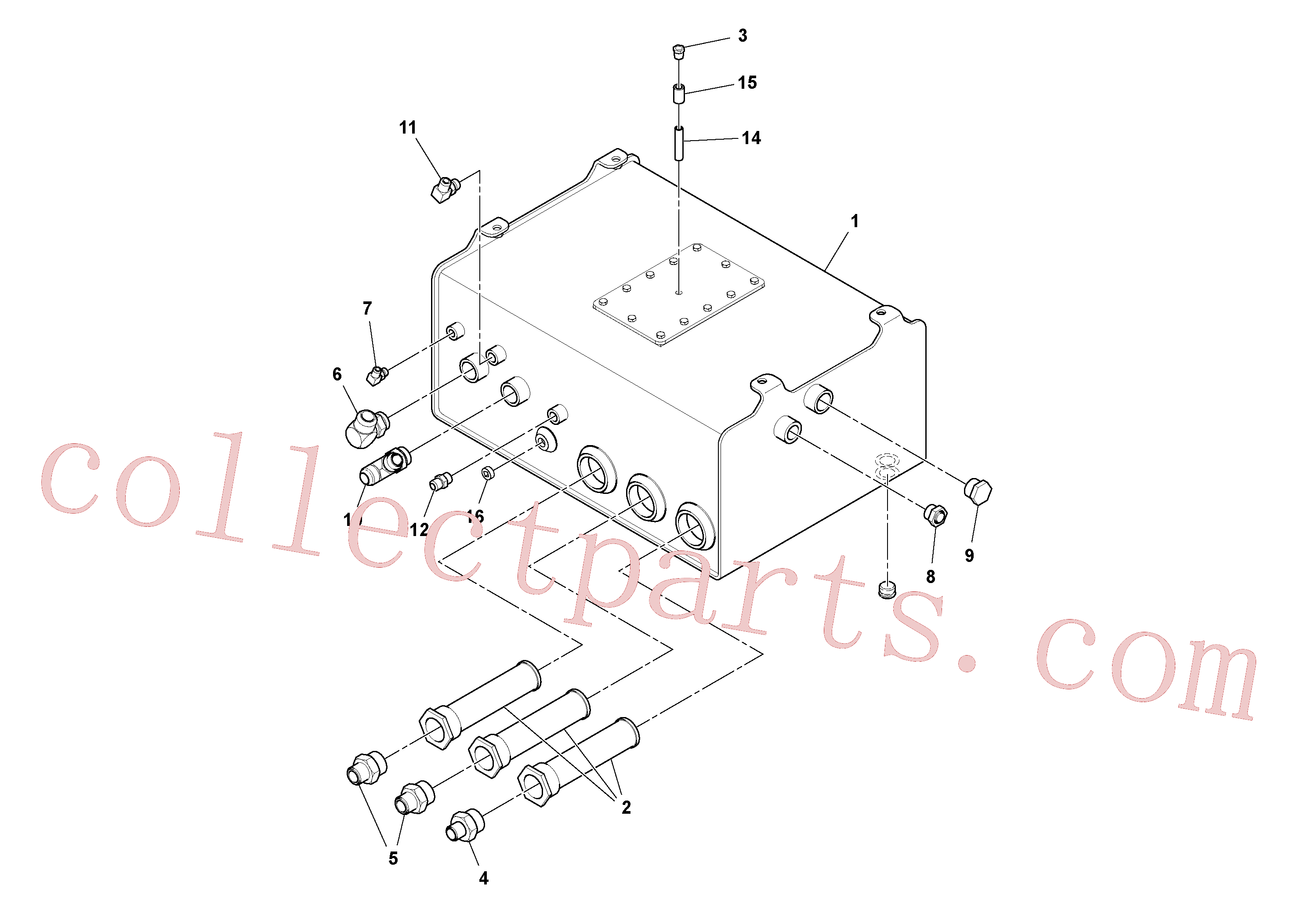 RM59995019 for Volvo Hydraulic Tank Assembly(1038020 assembly)