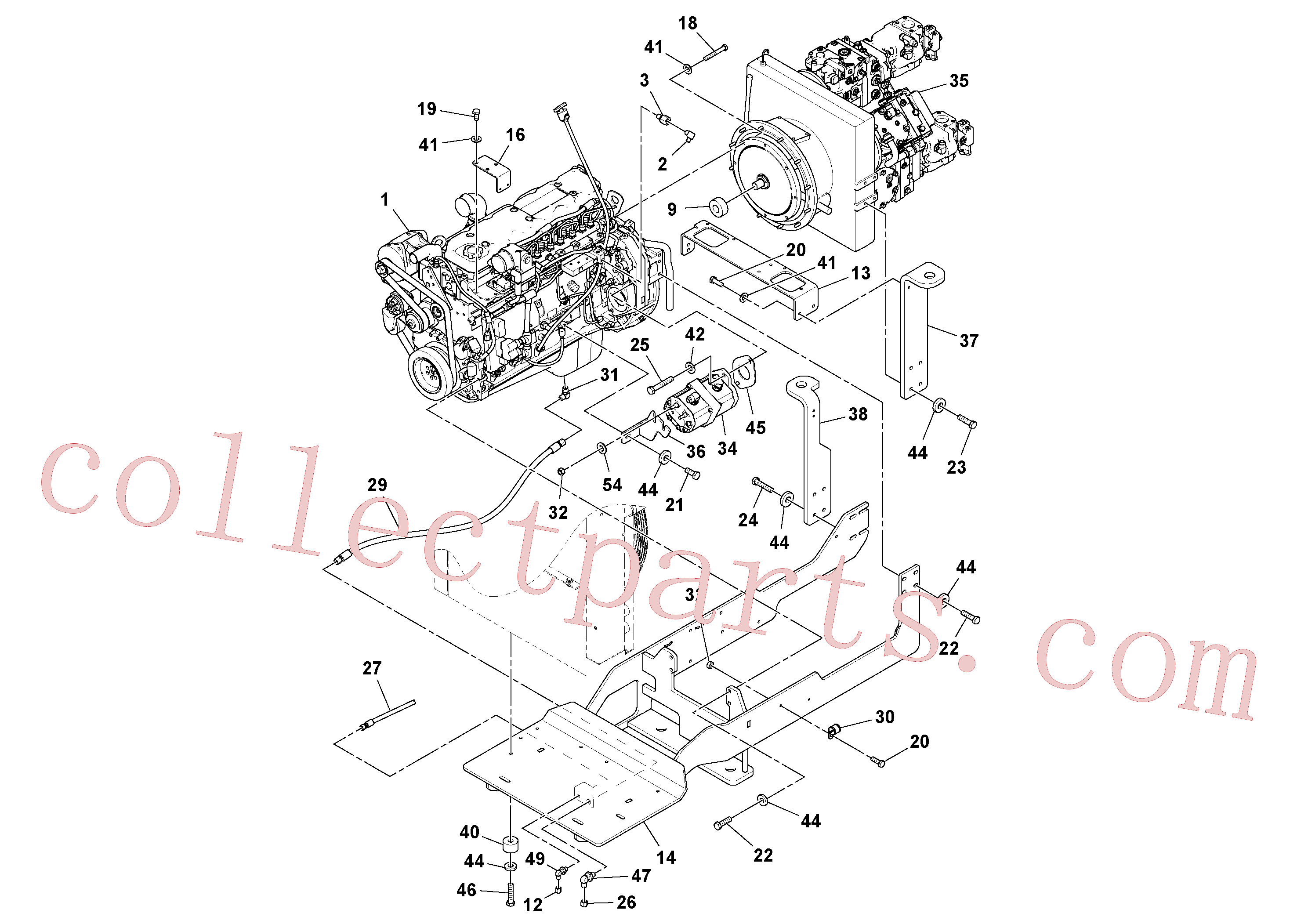 RM14083349 for Volvo Engine assembly(1038534 assembly)
