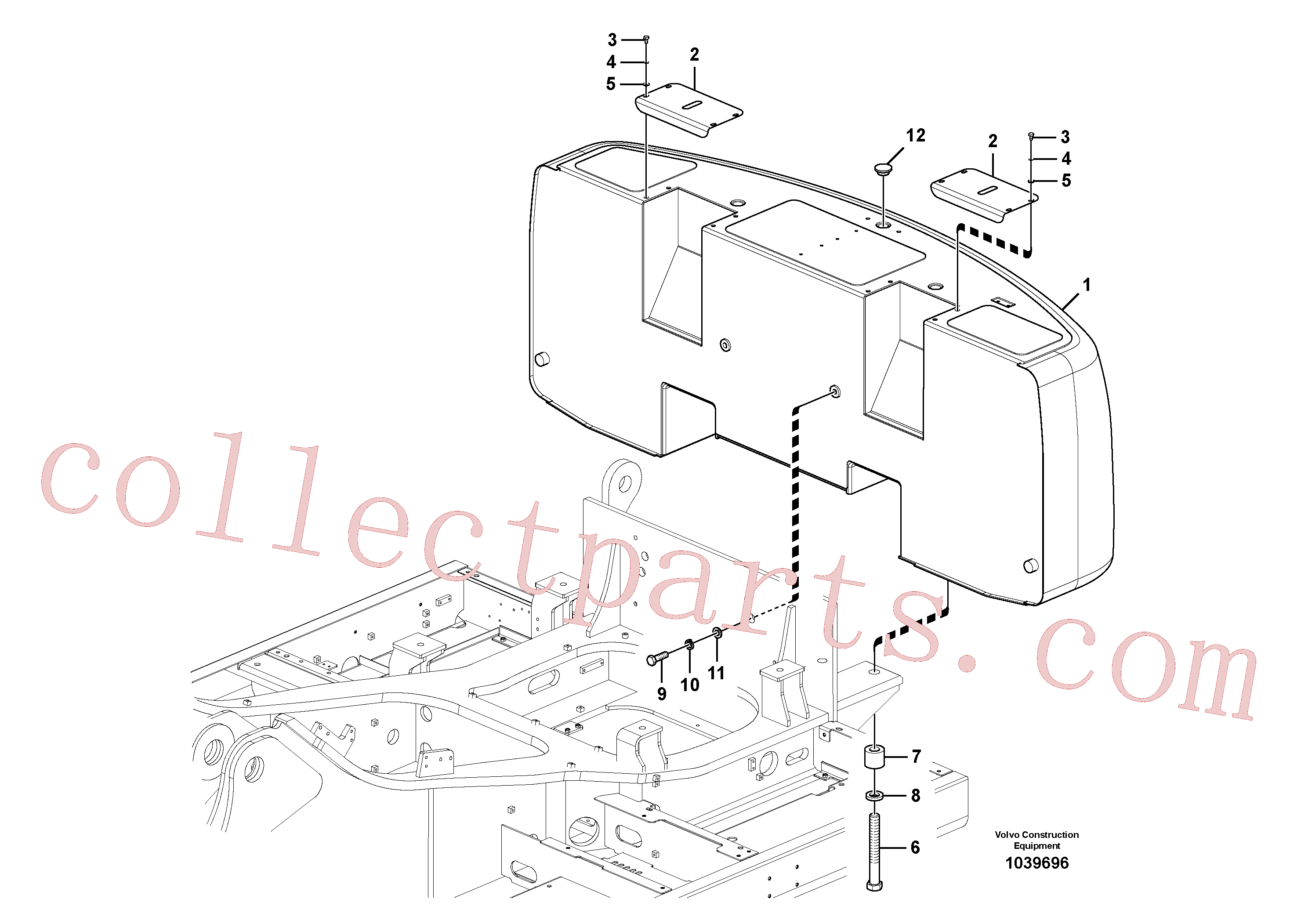VOE60110301 for Volvo Counterweights(1039696 assembly)