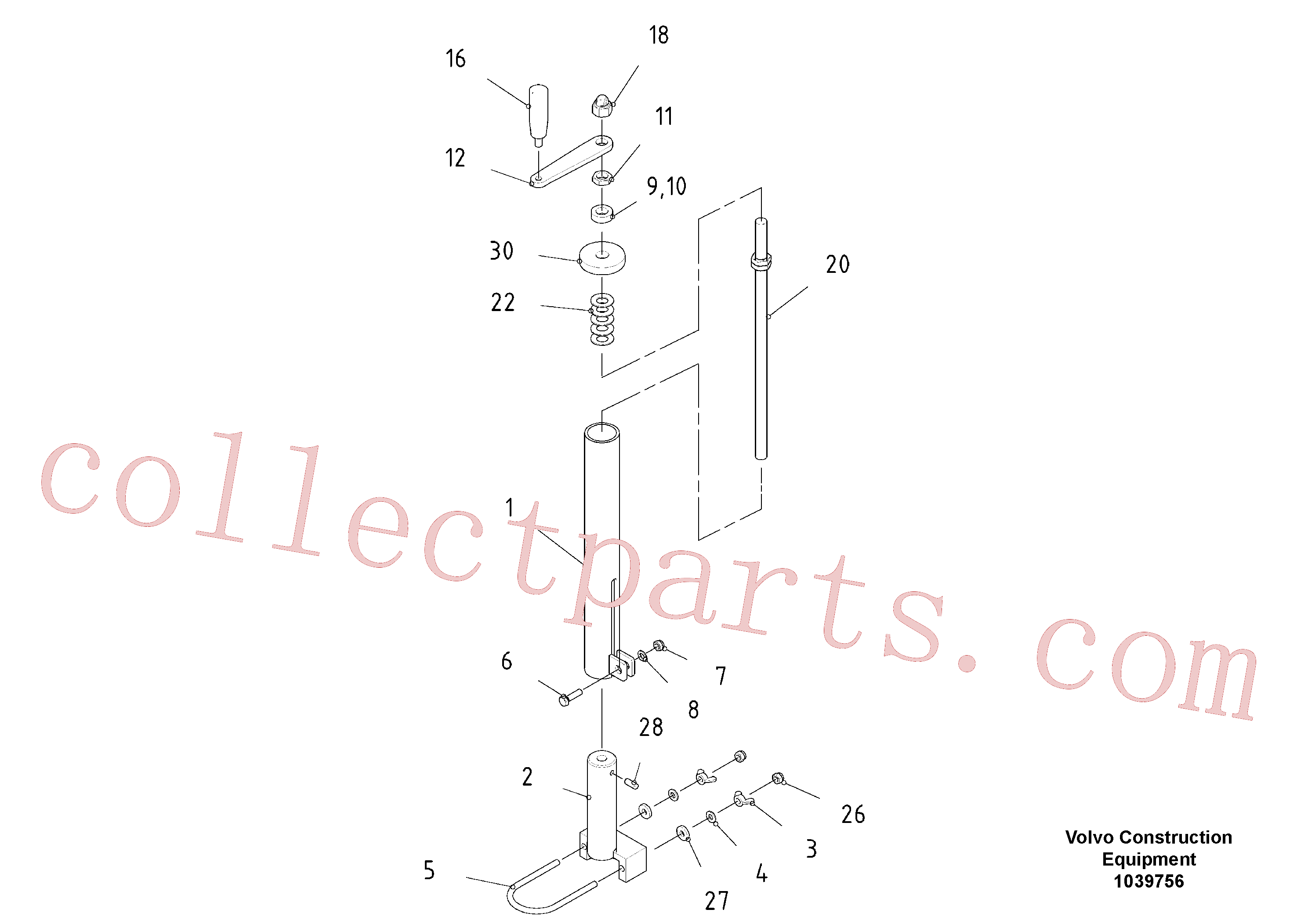 RM96712831 for Volvo Mechanical Control Assembly, Mechanical screed holder(1039756 assembly)