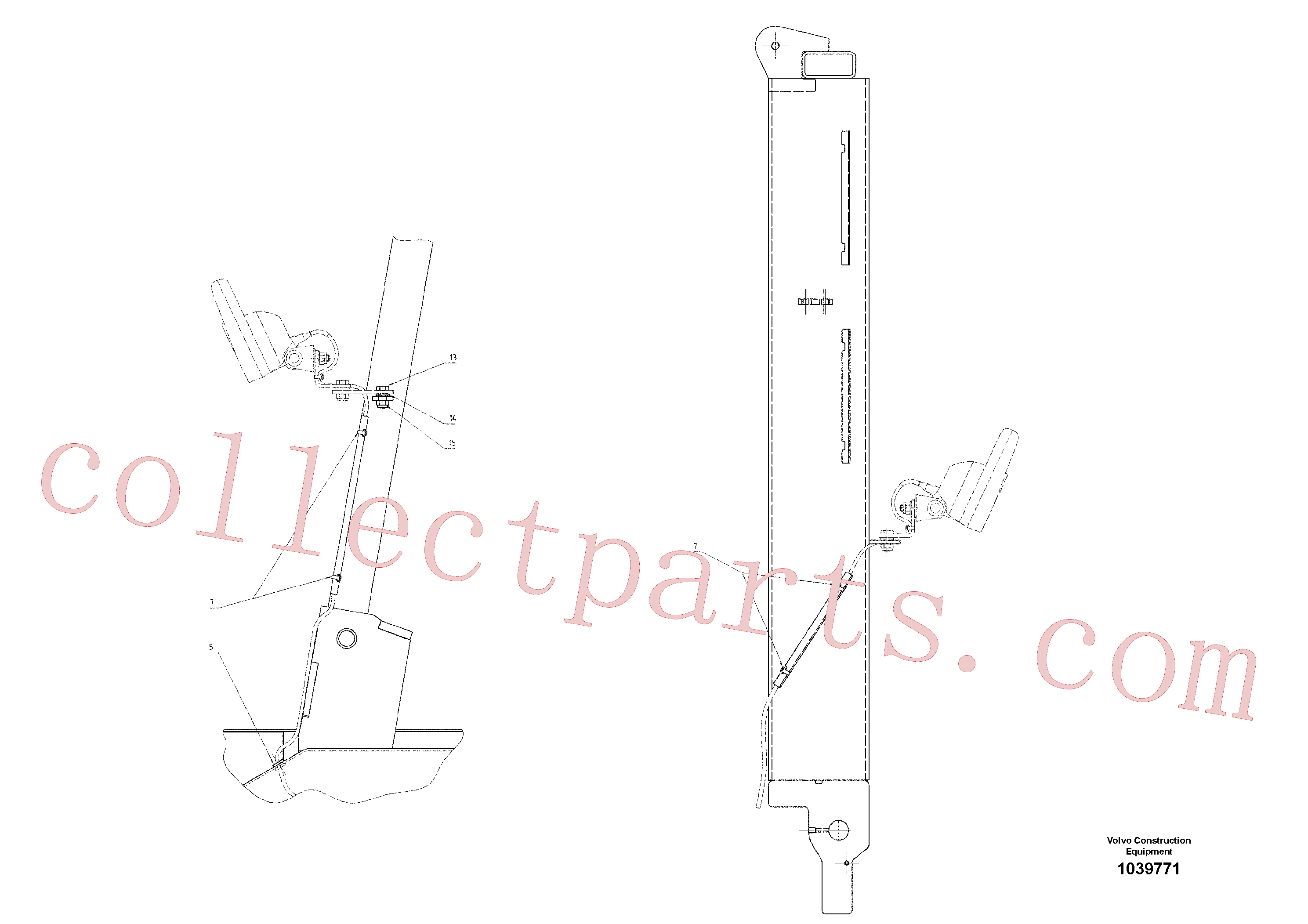 RM14141105 for Volvo Mounting Parts(1039771 assembly)