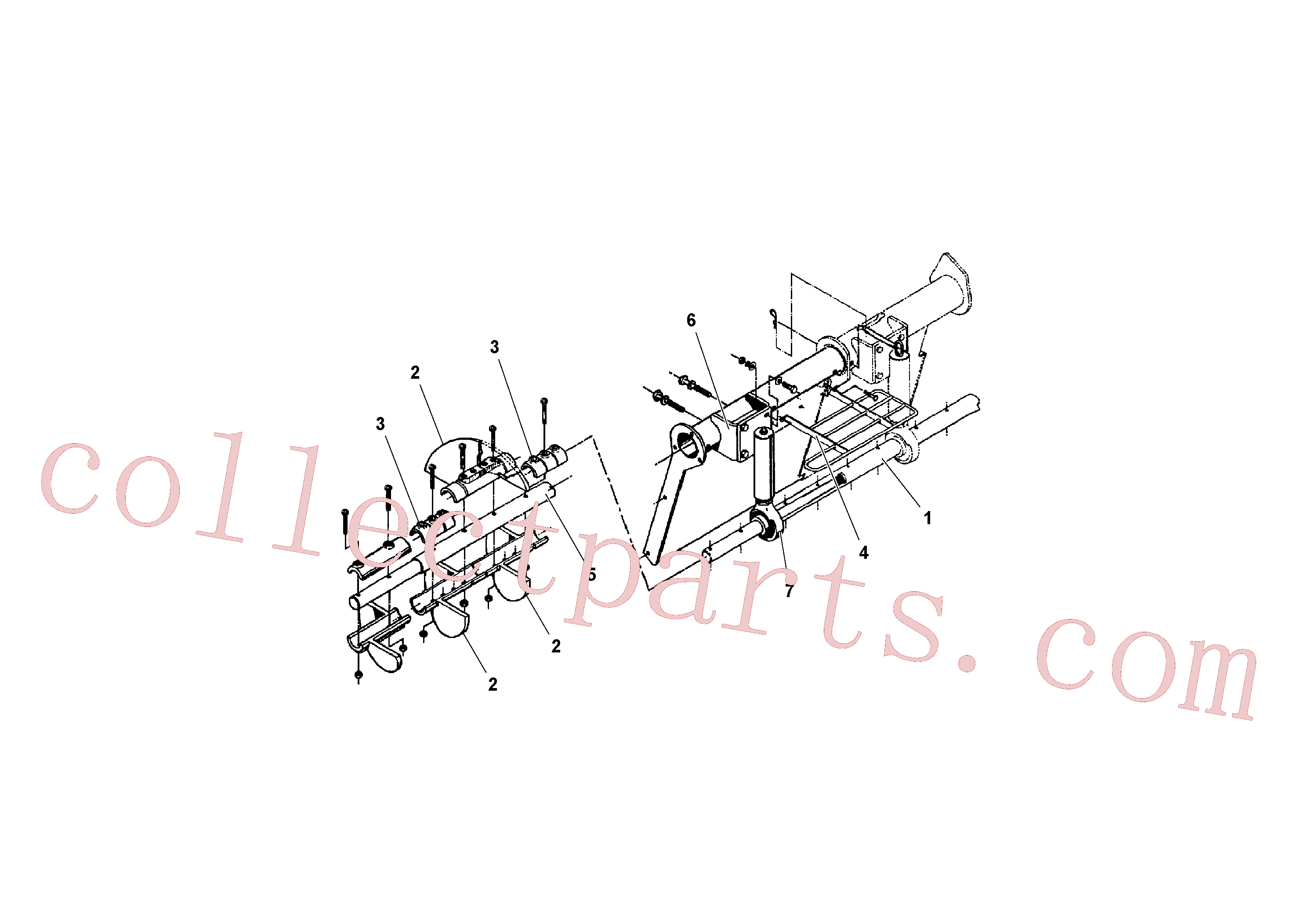 RM95934659 for Volvo Auger and Tunnel / Guard Arrangement(1041140 assembly)