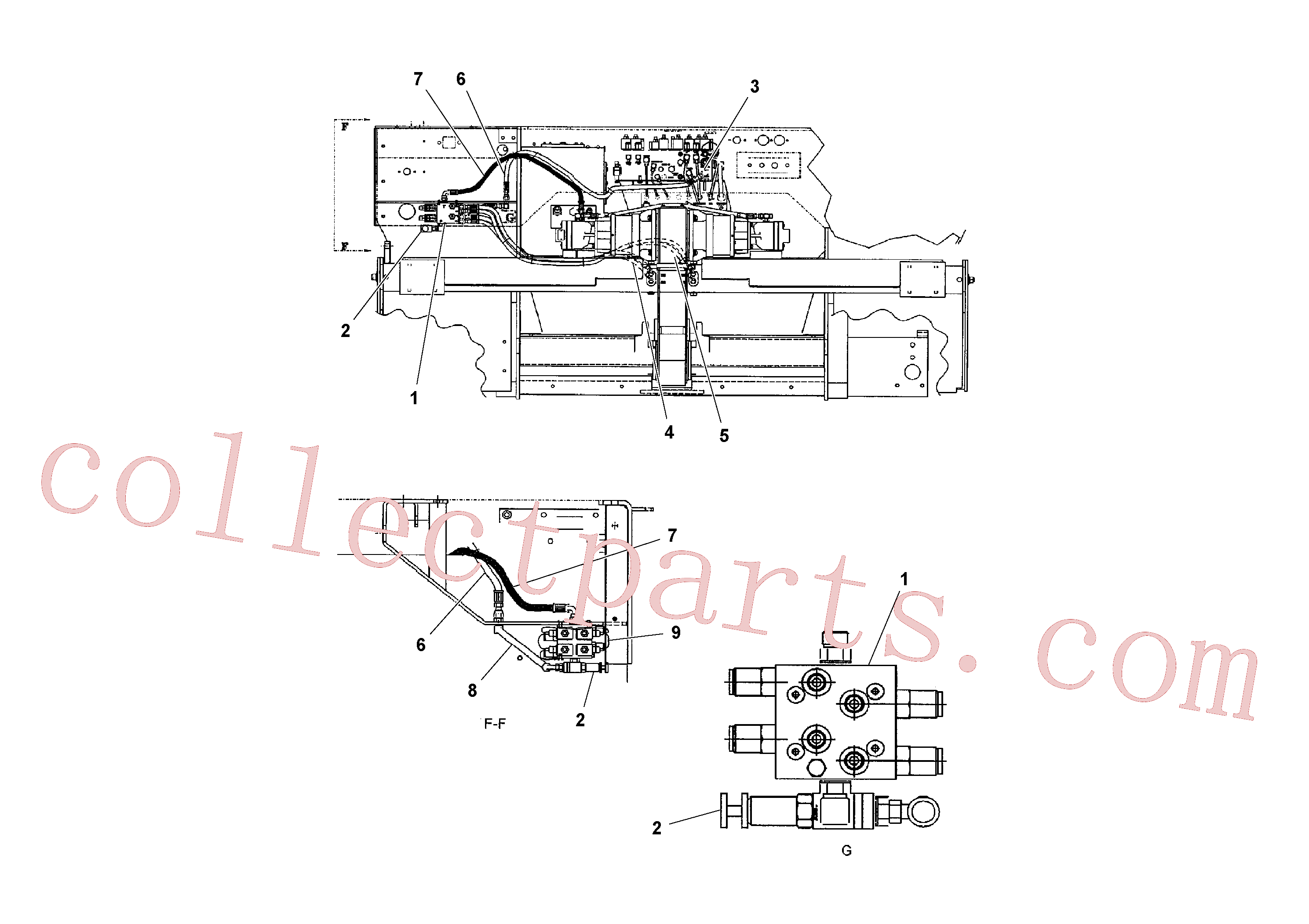VOE13933866 for Volvo Hydraulic Arrangement(1041182 assembly)