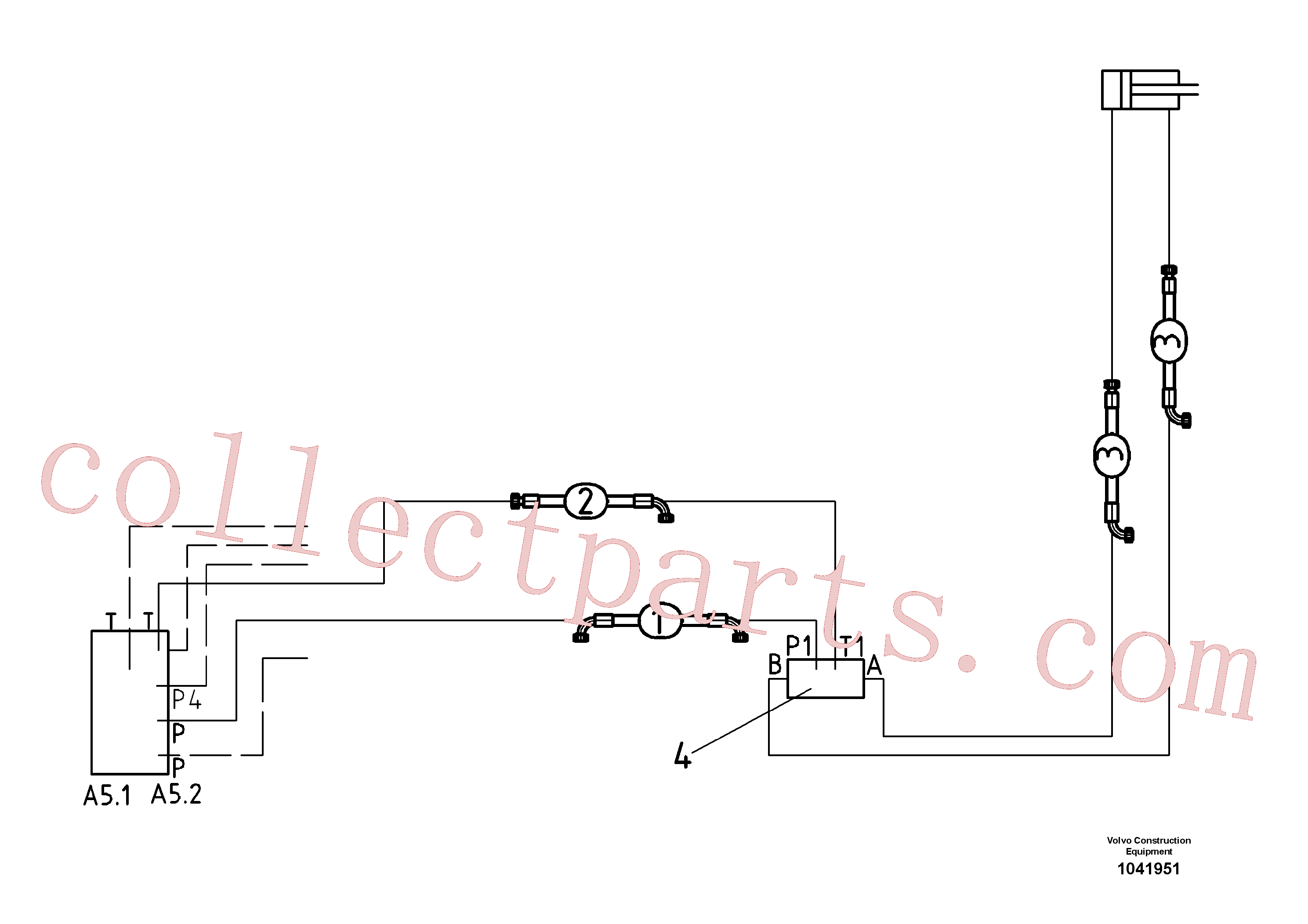RM80470503 for Volvo Hydraulic Auger Height(1041951 assembly)