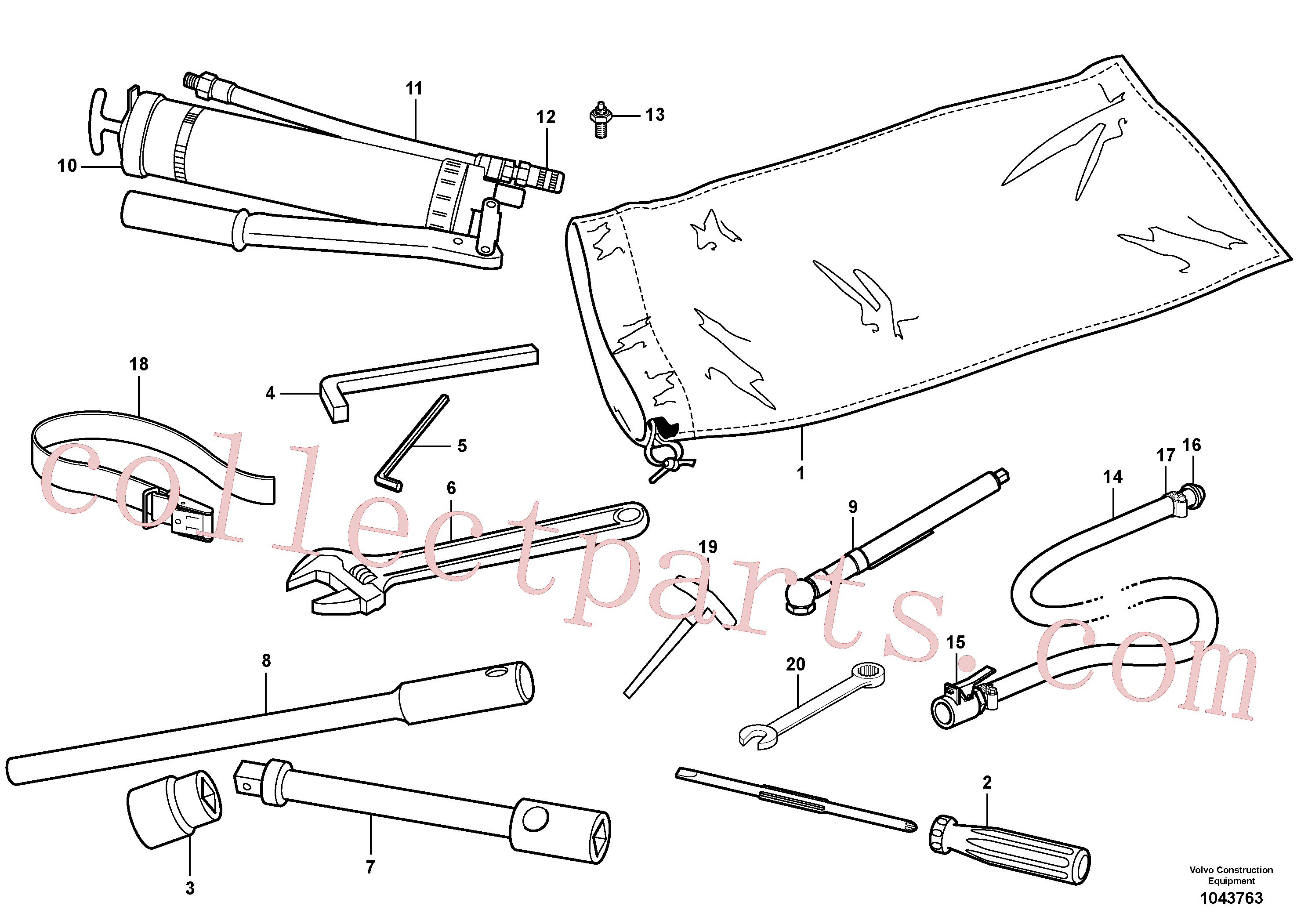 VOE11431196 for Volvo Tool kit(1043763 assembly)
