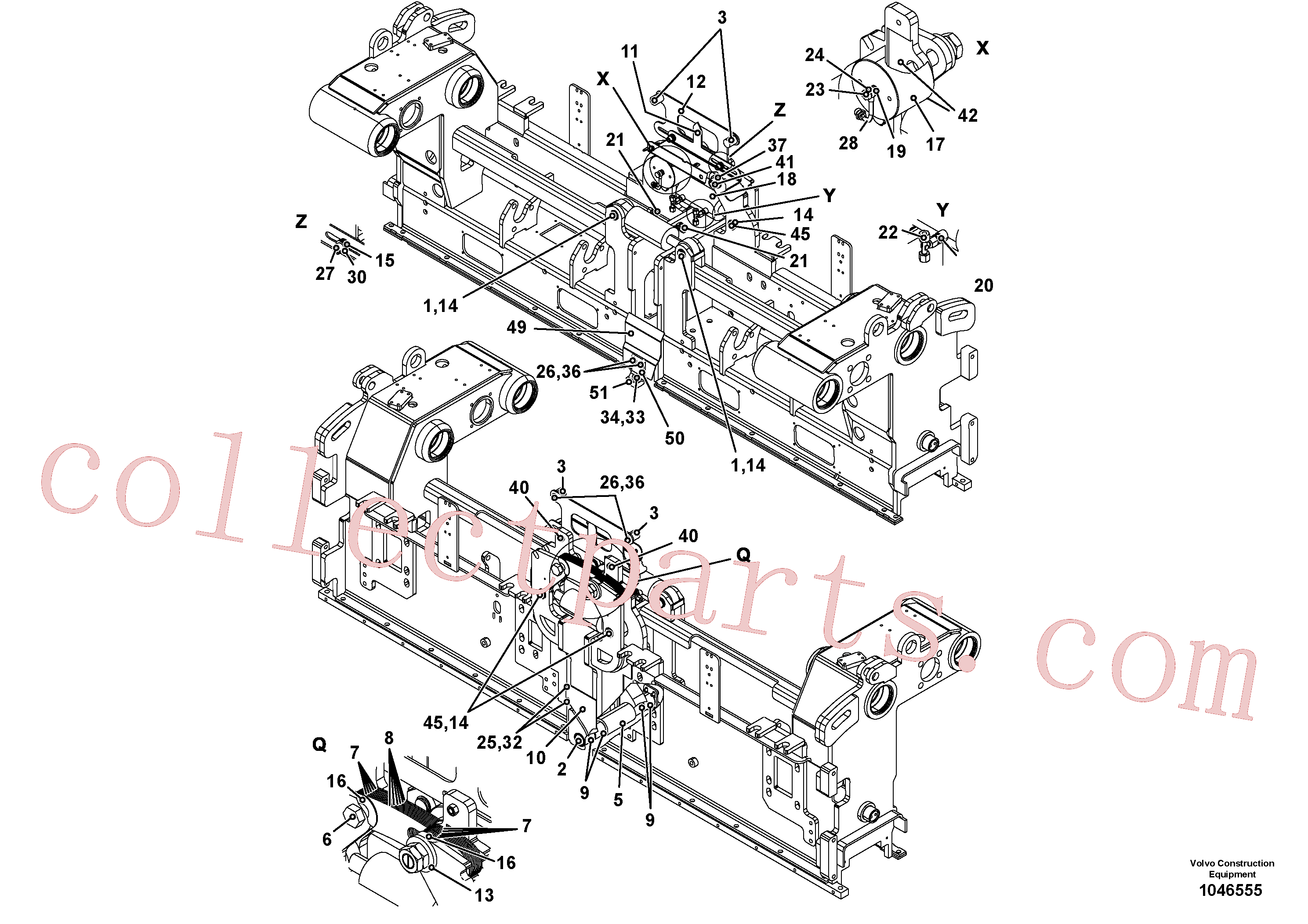 RM56295116 for Volvo Crown control for basic screed, Basic screed and crown control(1046555 assembly)