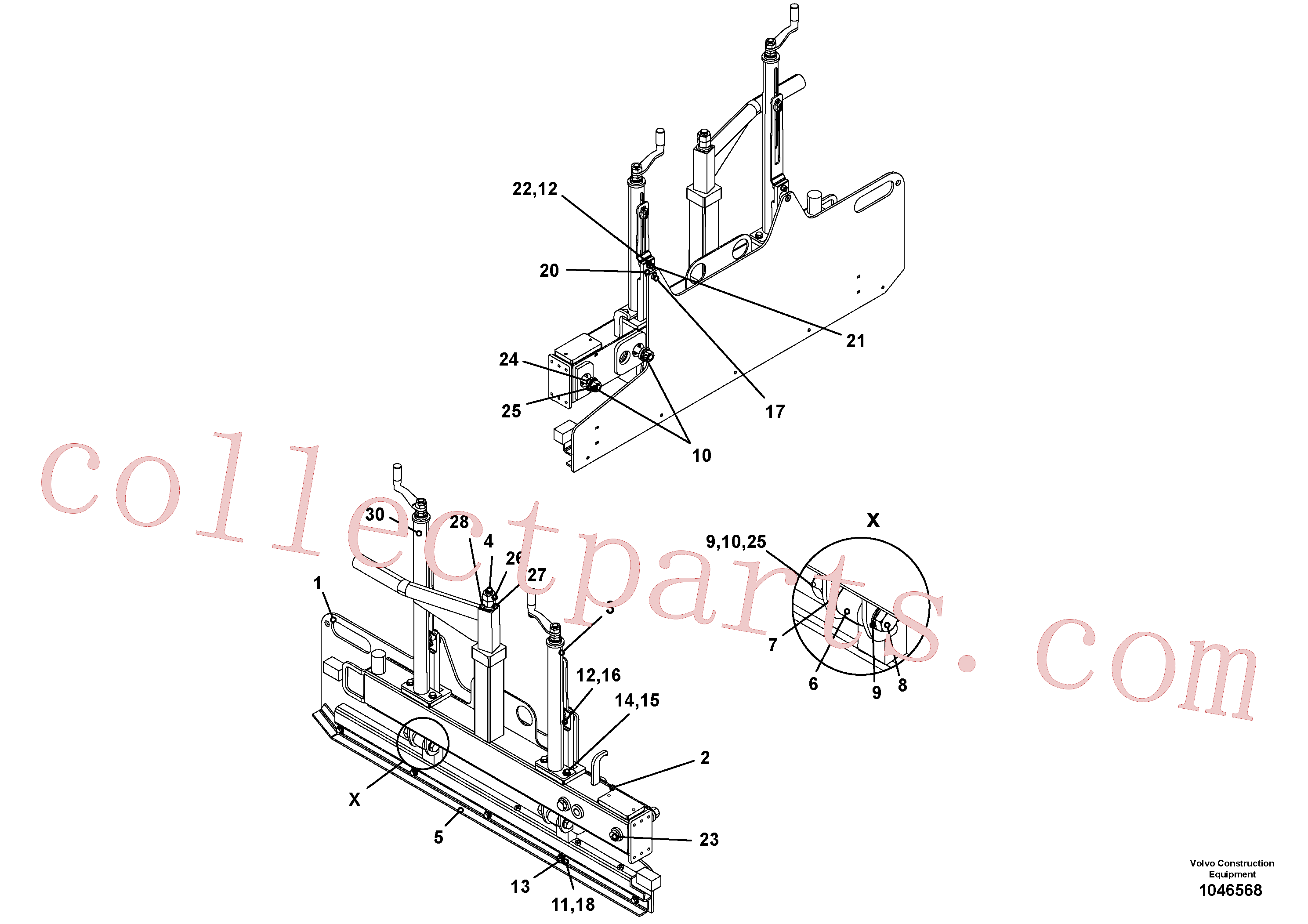 RM14083349 for Volvo Lateral limitation(1046568 assembly)