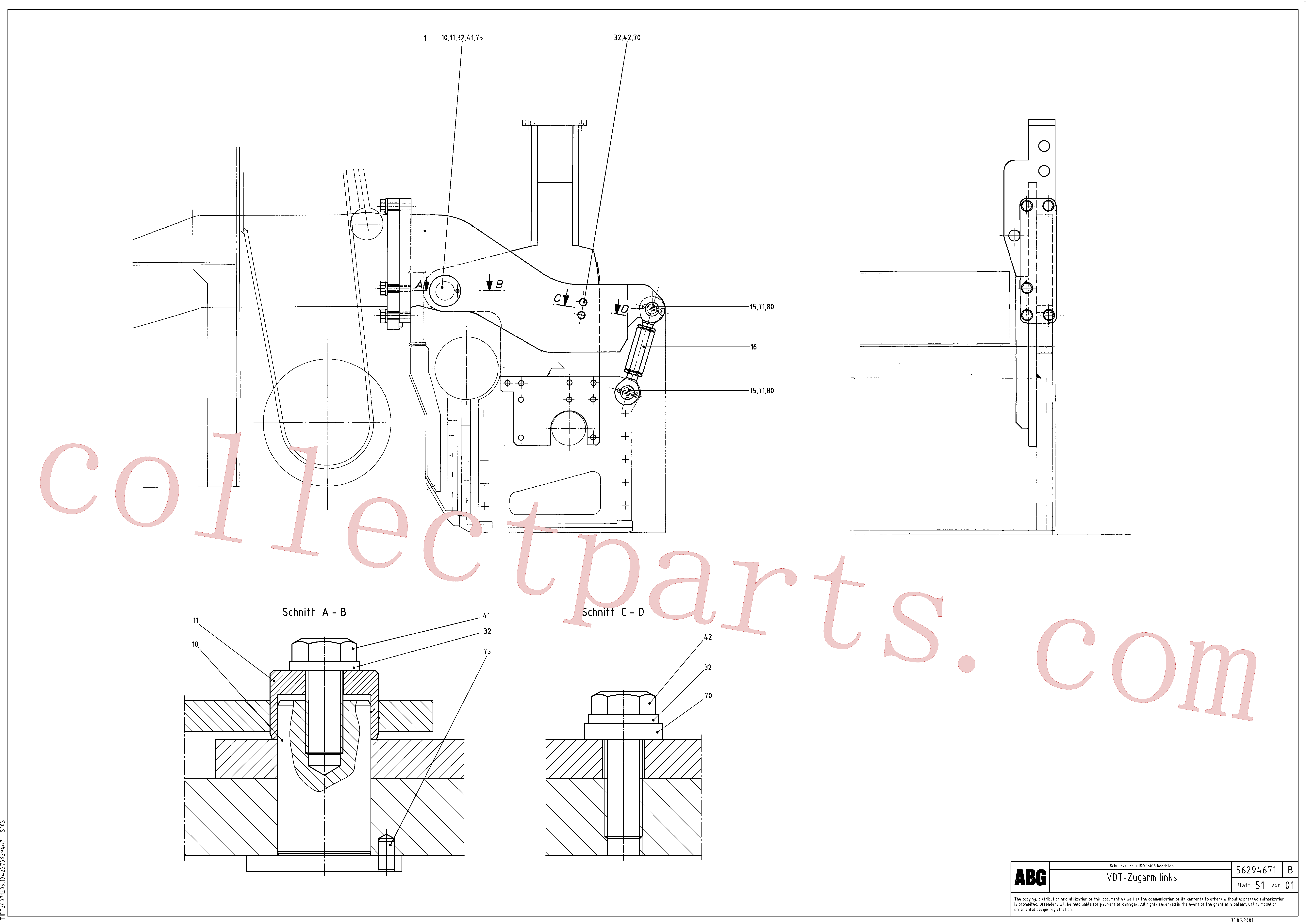 RM96722475 for Volvo Towing arms rear, Towing arm behind(1046913 assembly)