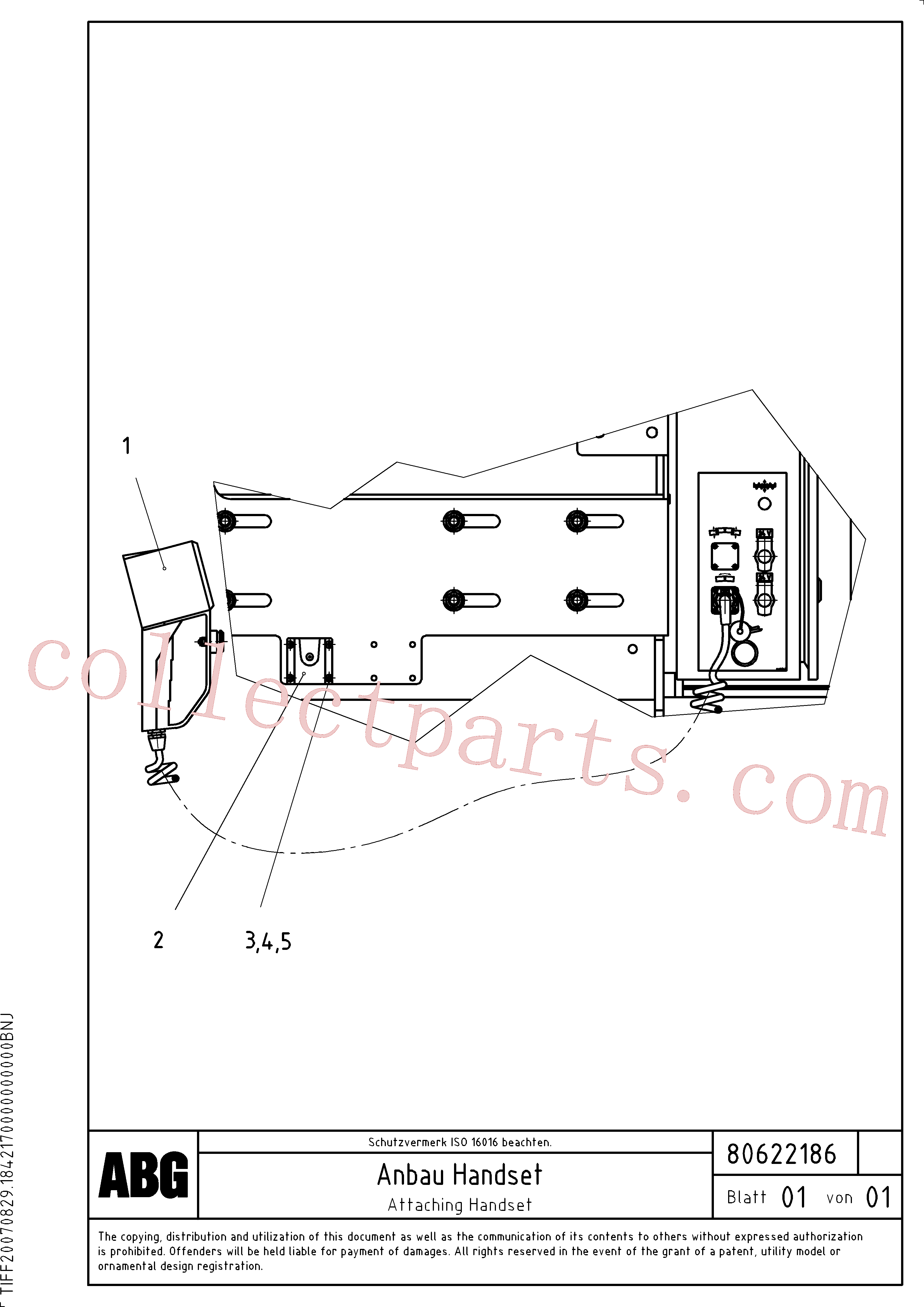 RM96718614 for Volvo Attaching handset for crown control(1047006 assembly)
