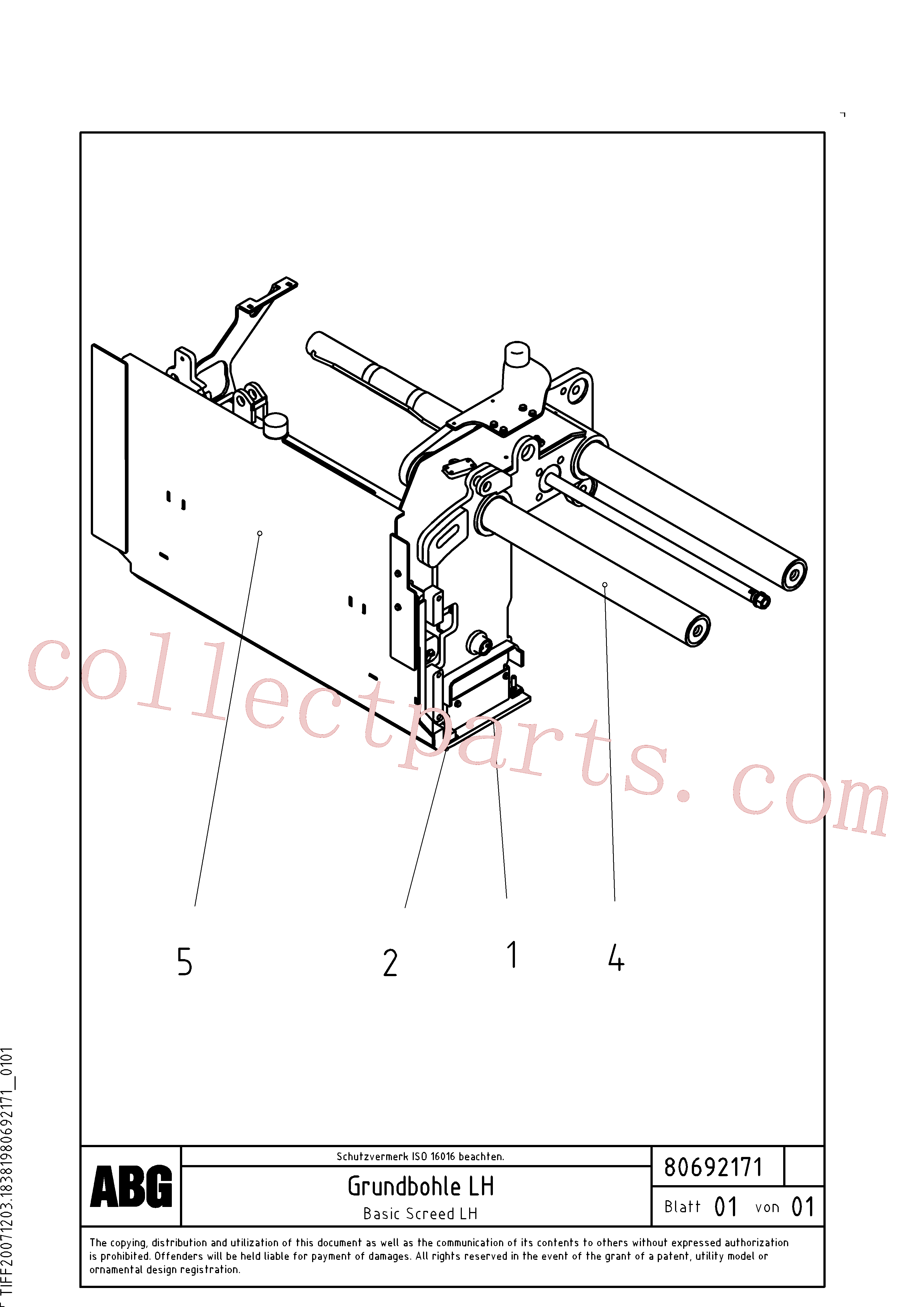 RM56294440 for Volvo Basic screed(1047115 assembly)