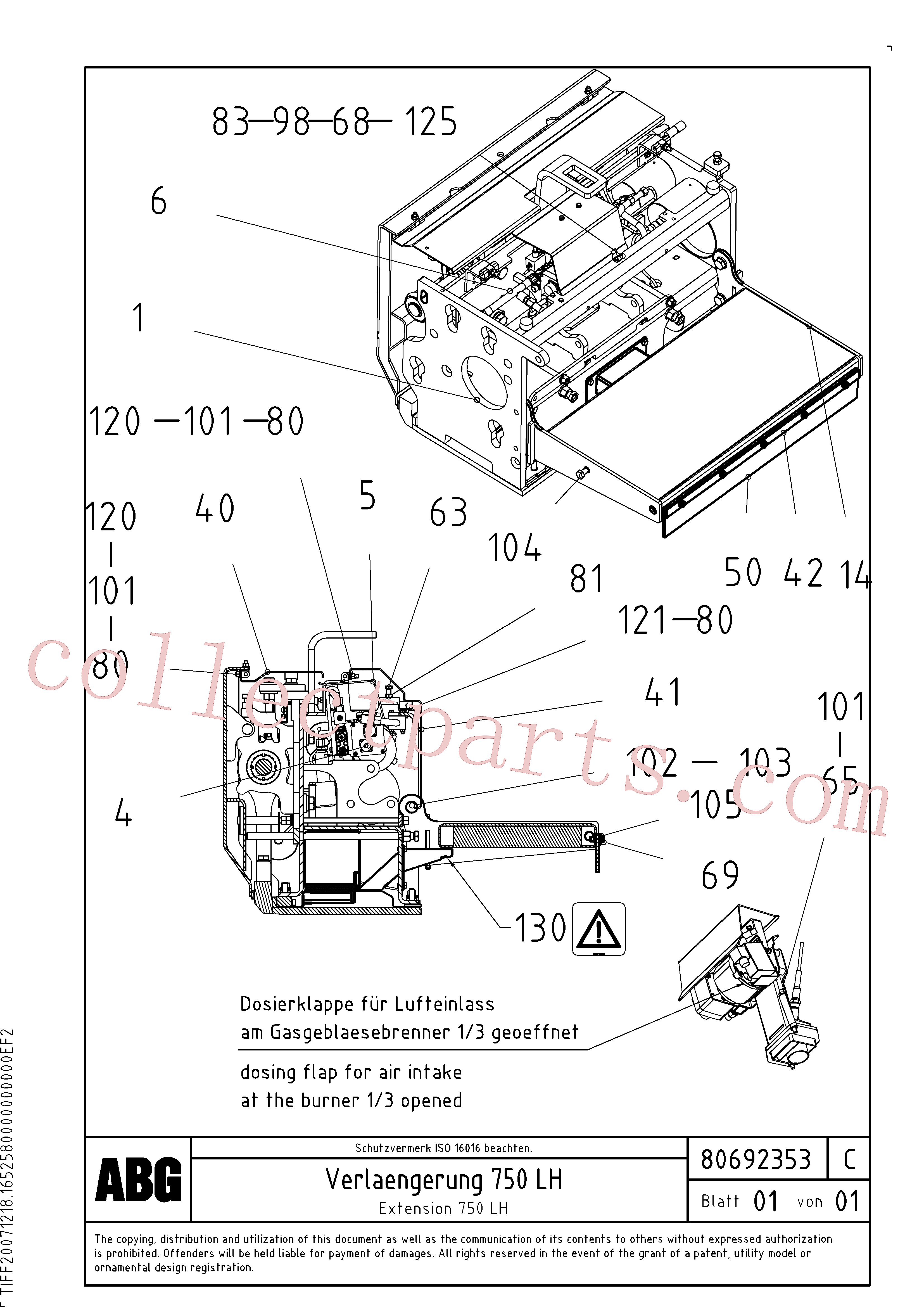 RM80765019 for Volvo Extension(1047133 assembly)