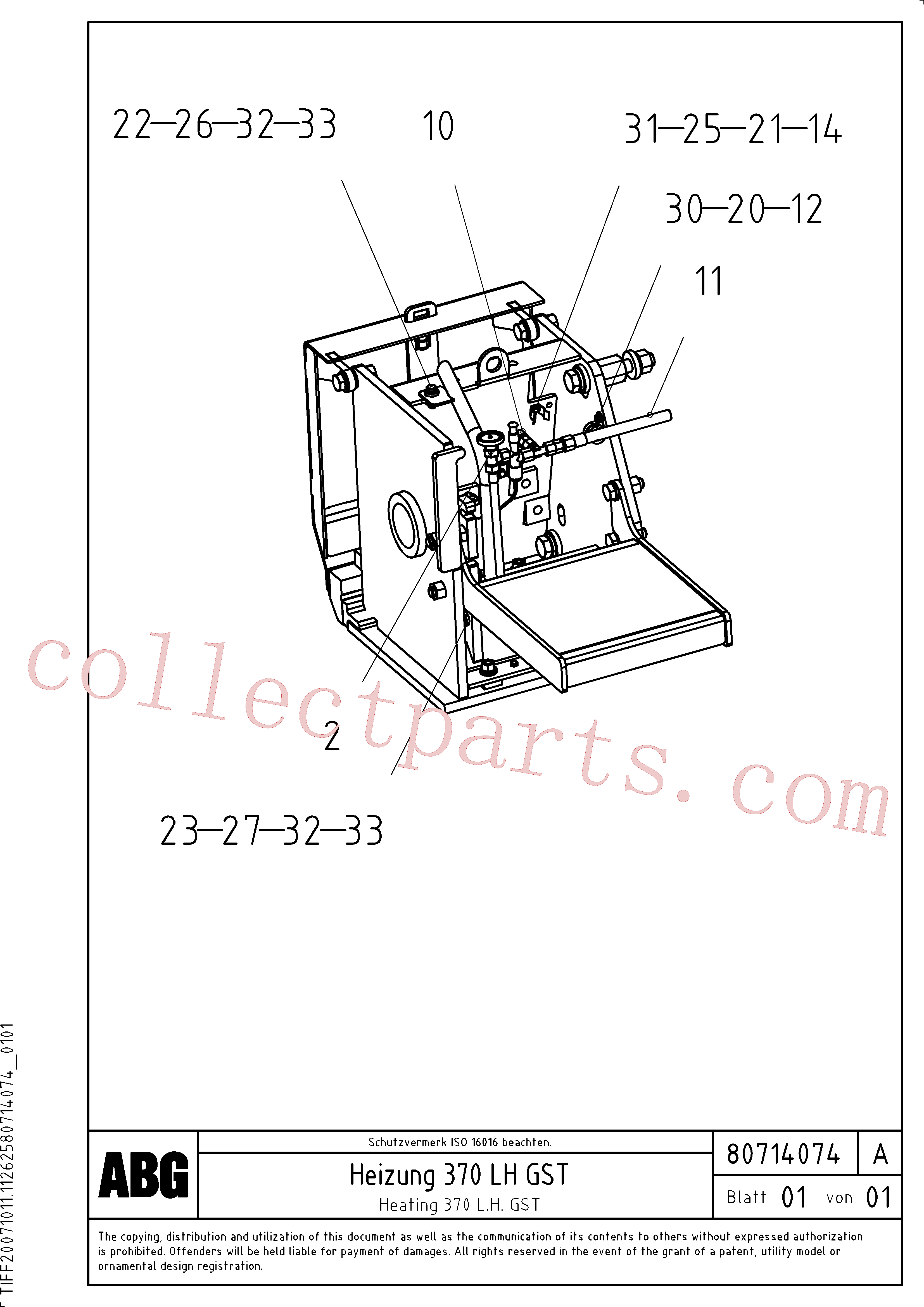 RM80680366 for Volvo Gas heating for extension(1047355 assembly)