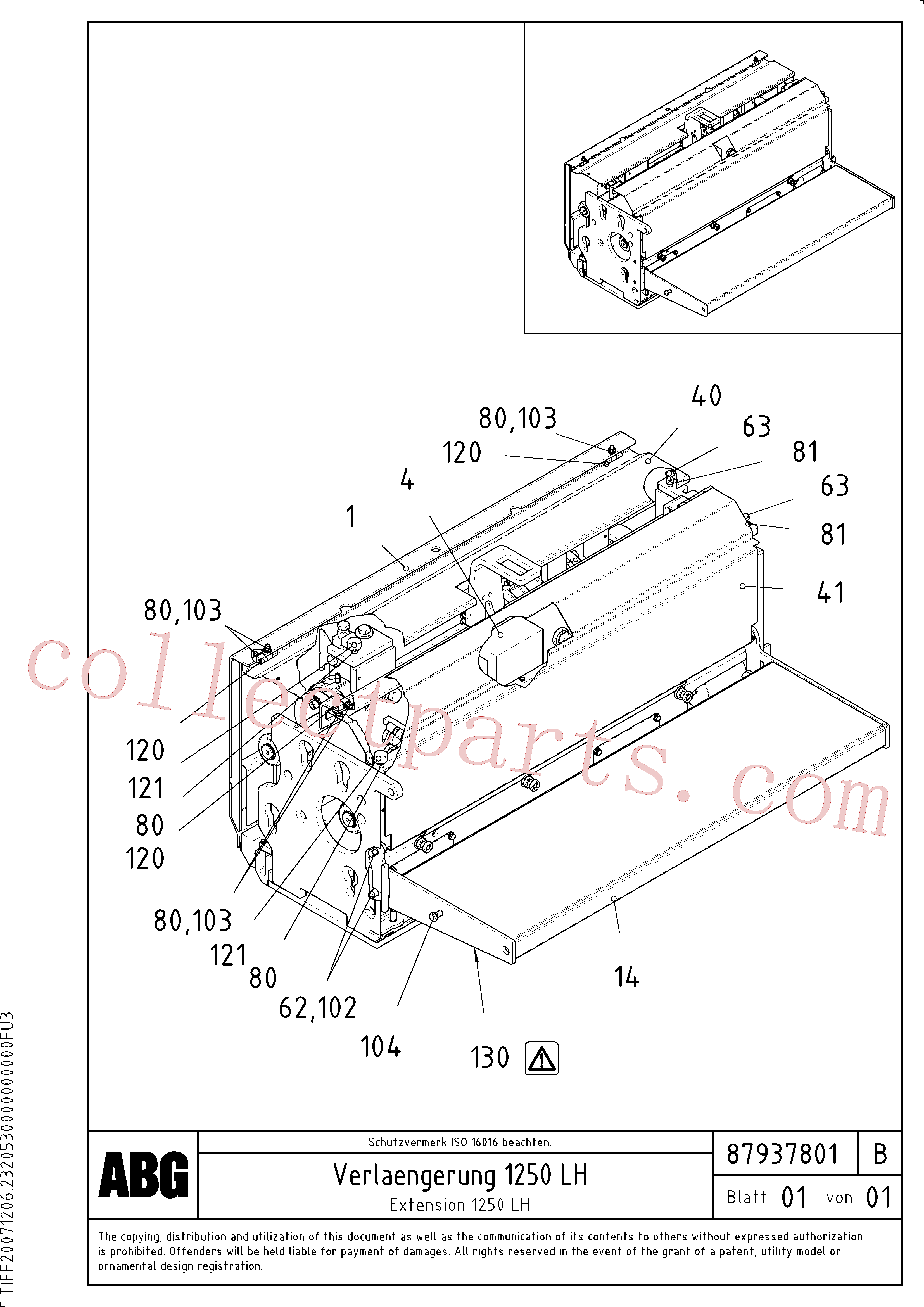 VOE983911 for Volvo Extension(1047907 assembly)
