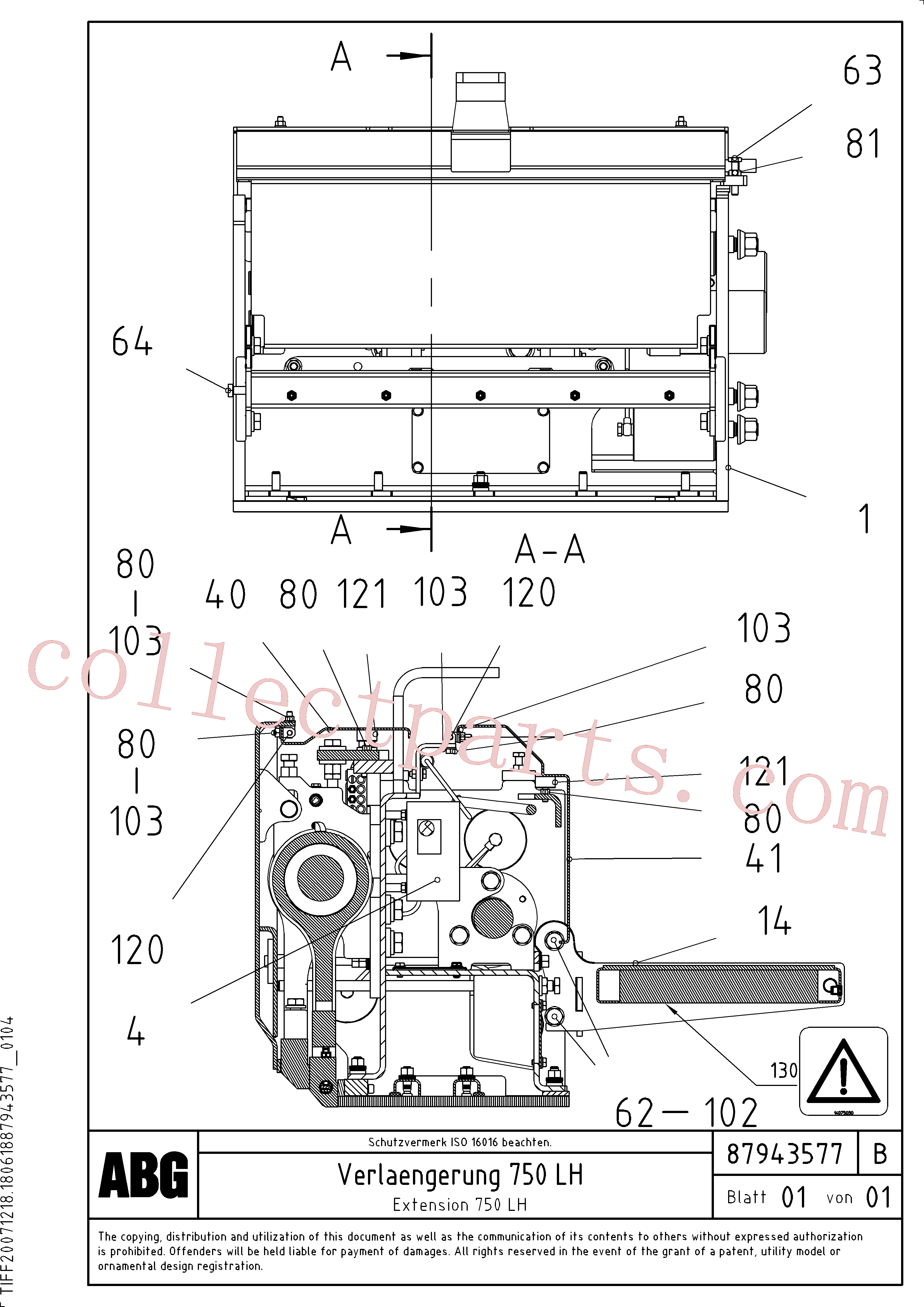 VOE983911 for Volvo Extension(1047987 assembly)