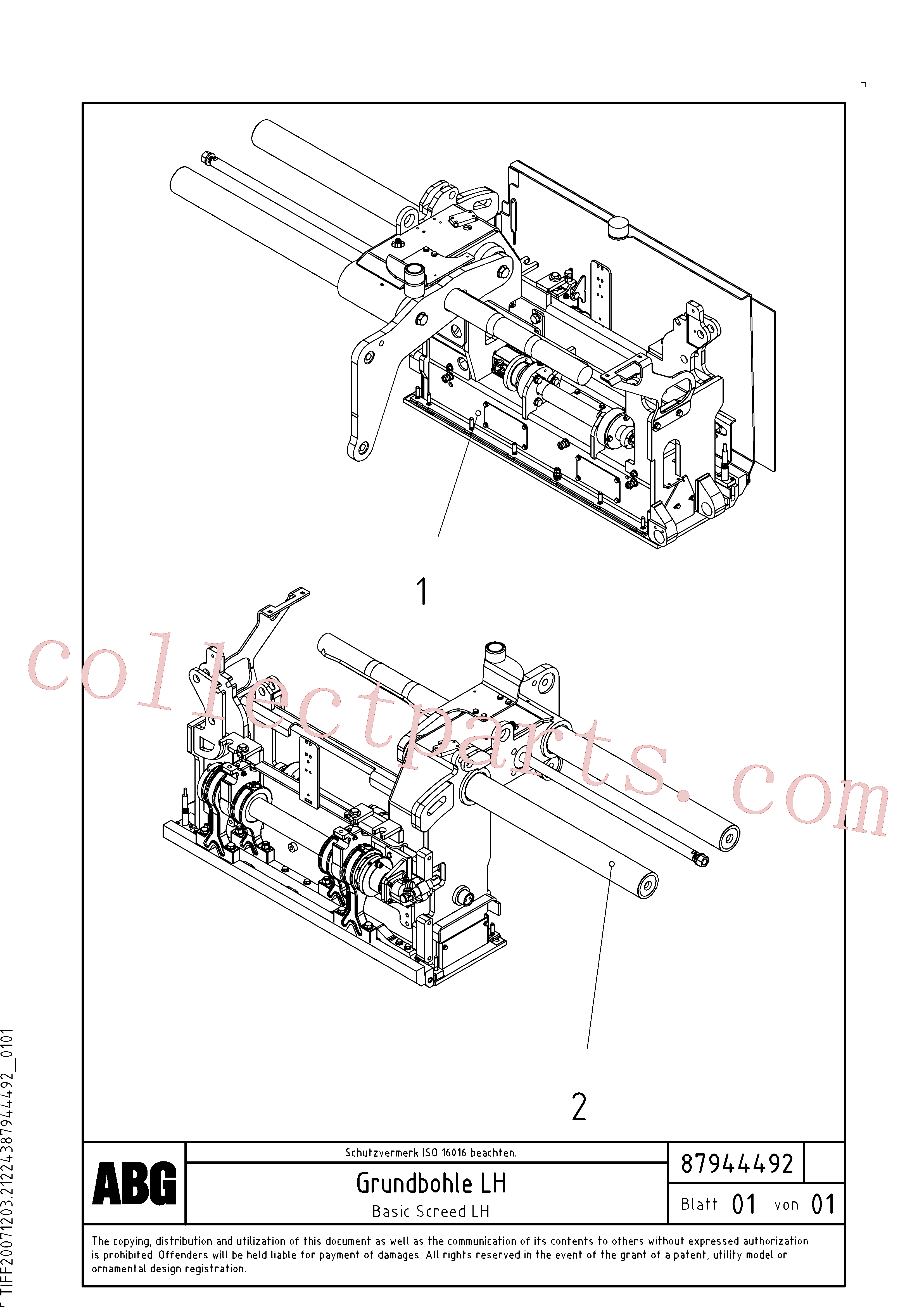 RM56294440 for Volvo Screed guide for basic screed(1048017 assembly)