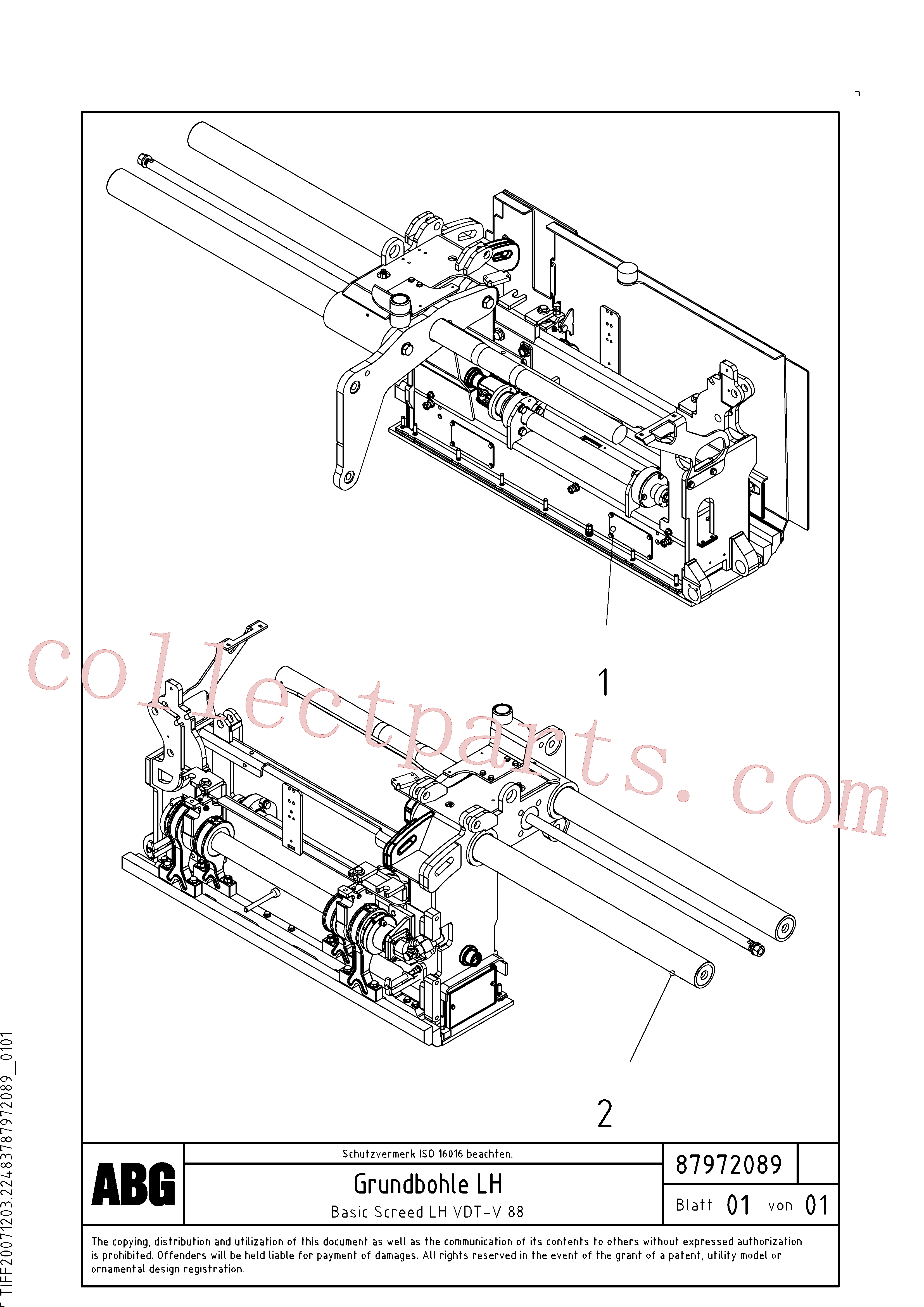 RM80668205 for Volvo Basic screed(1048165 assembly)