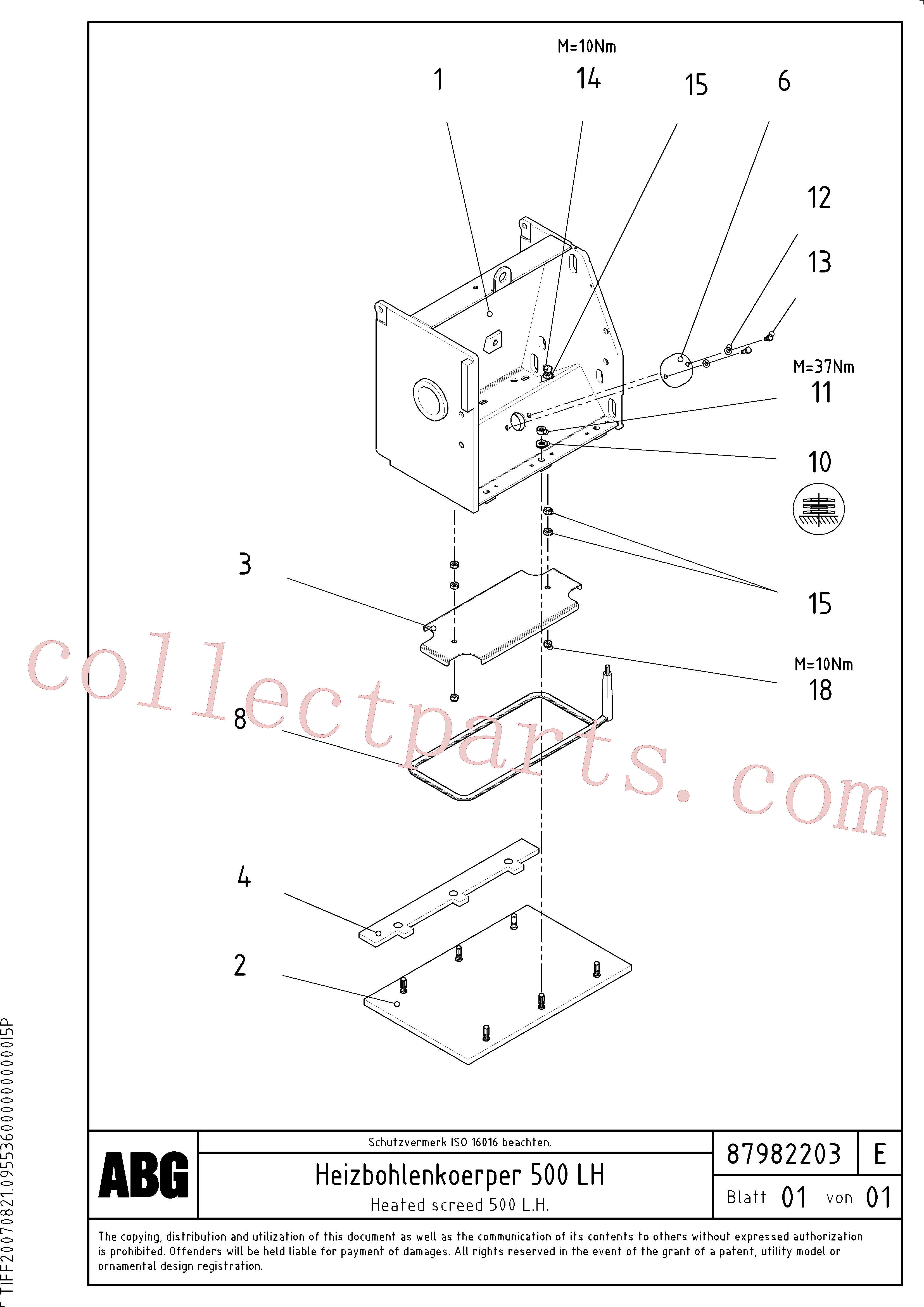 RM14083349 for Volvo Heated base plate for extension(1048262 assembly)