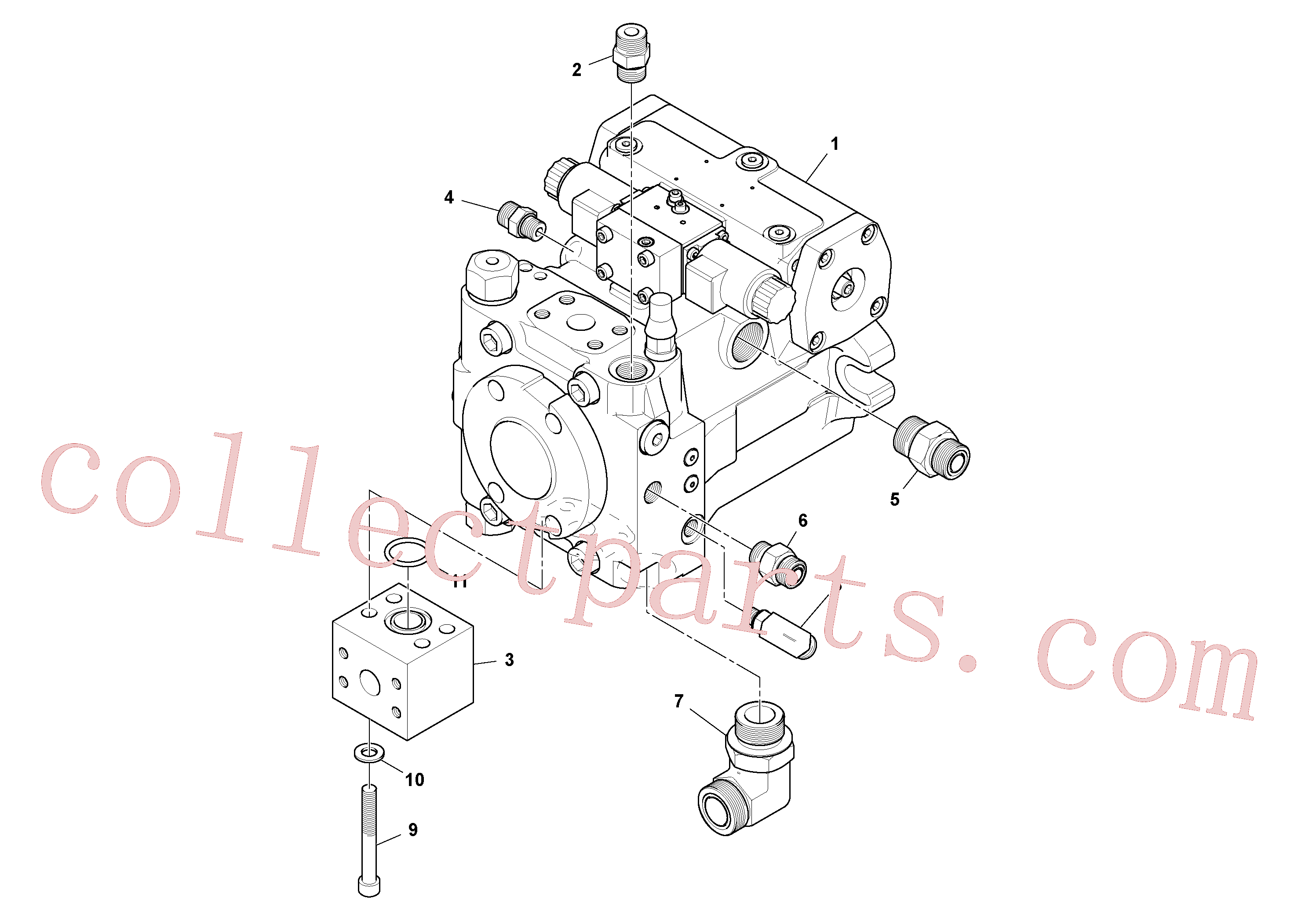 RM95068235 for Volvo Propulsion Pump Assembly(1048406 assembly)