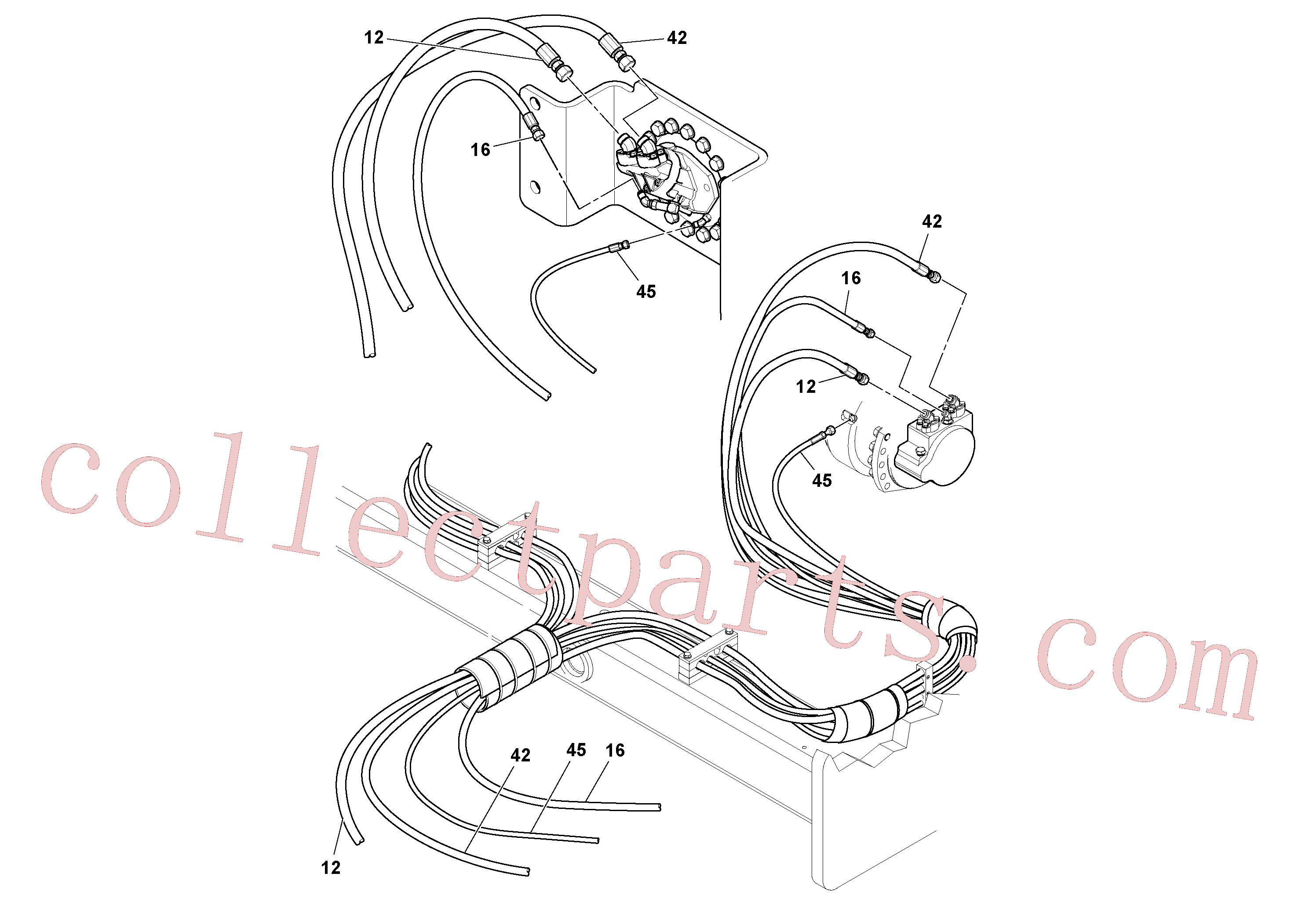 RM13319355 for Volvo Hoses Installation(1048986 assembly)