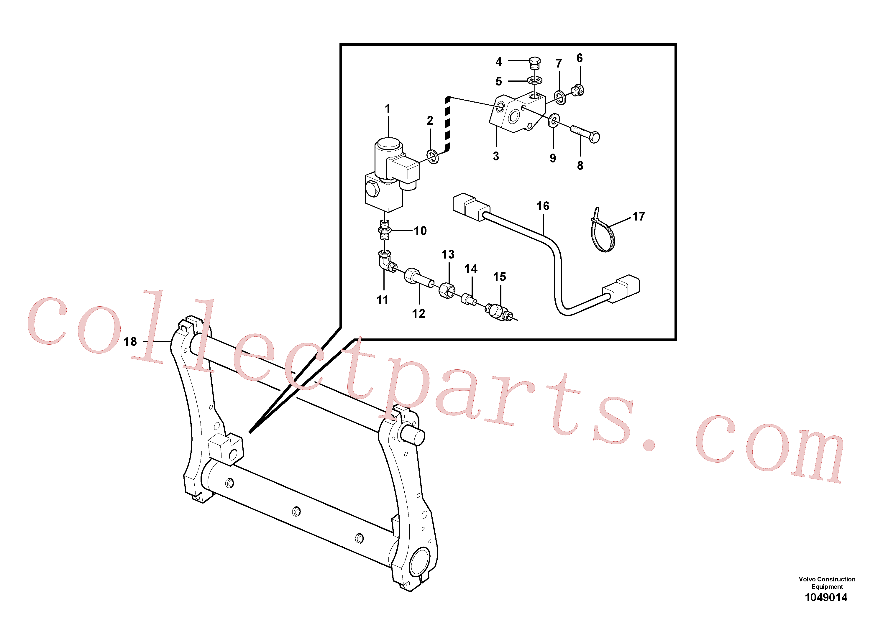 VOE15226344 for Volvo Electrical system: Attachment locking(1049014 assembly)