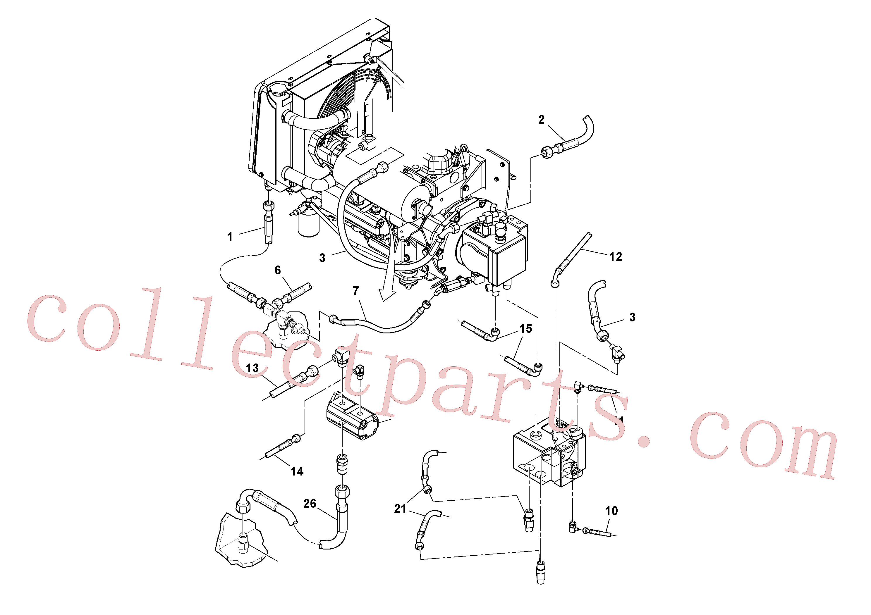 RM59219865 for Volvo Hydraulic hoses/tube installation(1049098 assembly)