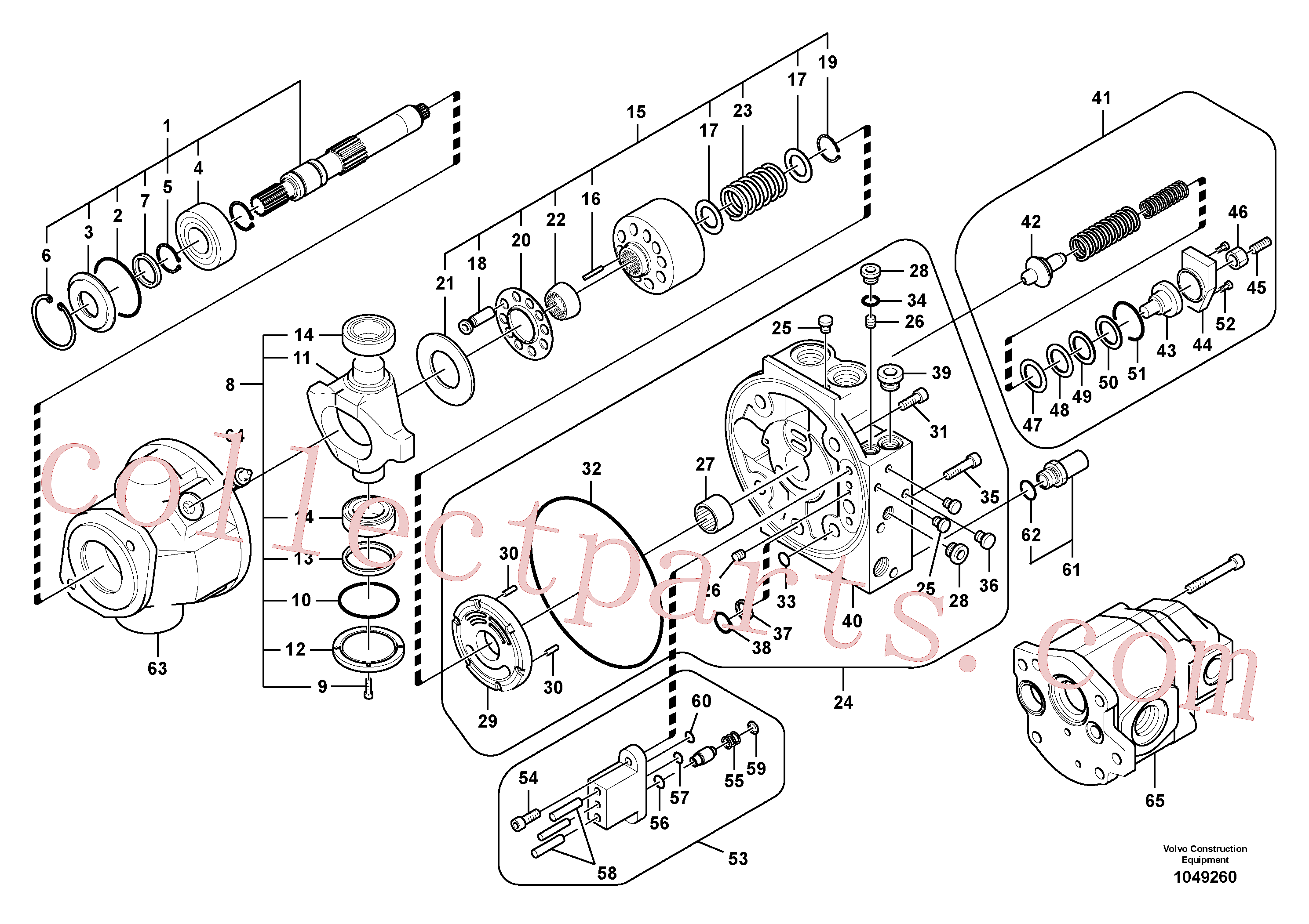 VOE14504578 for Volvo Hydraulic pump(1049260 assembly)