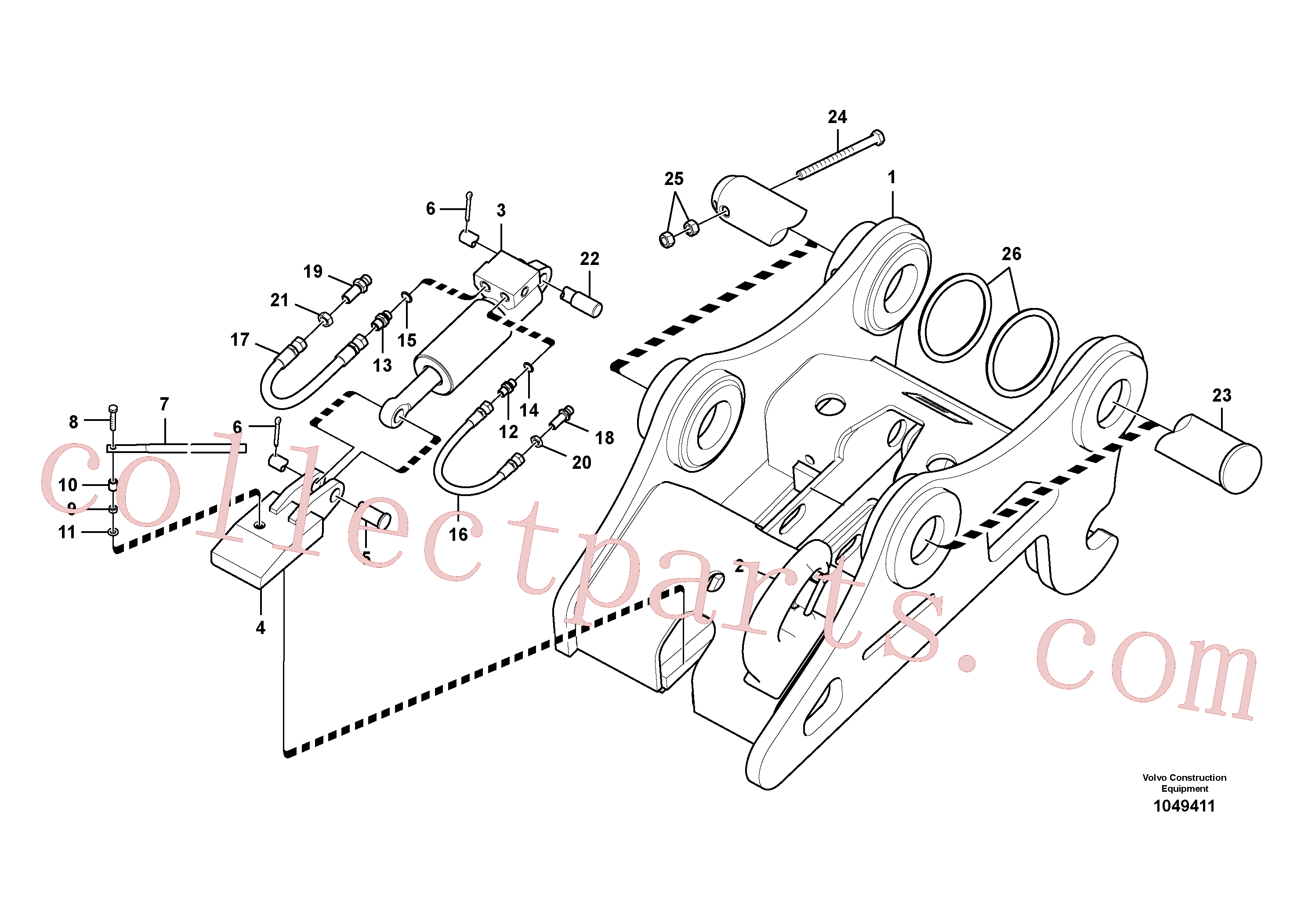 VOE14609909 for Volvo Attachment bracket, quickfit(1049411 assembly)